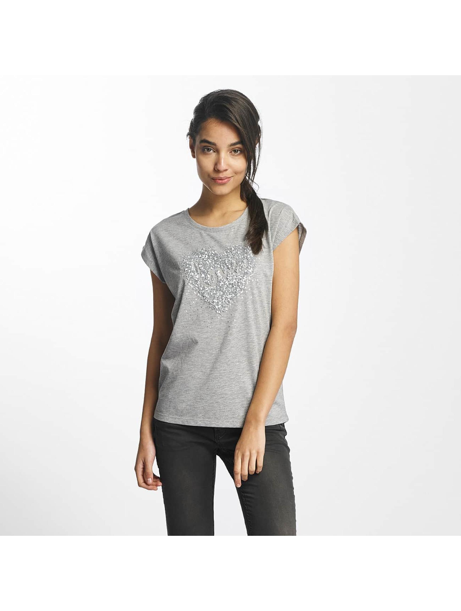 Fresh Made Frauen T-Shirt Made Love in grau