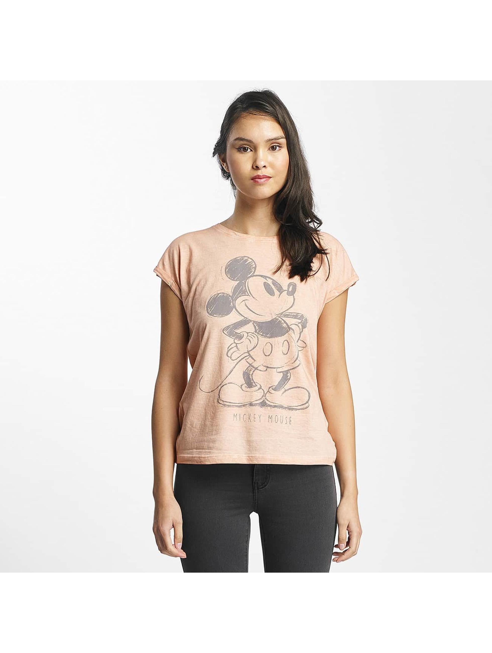 Rock Angel Frauen T-Shirt Mickey Mouse in rosa