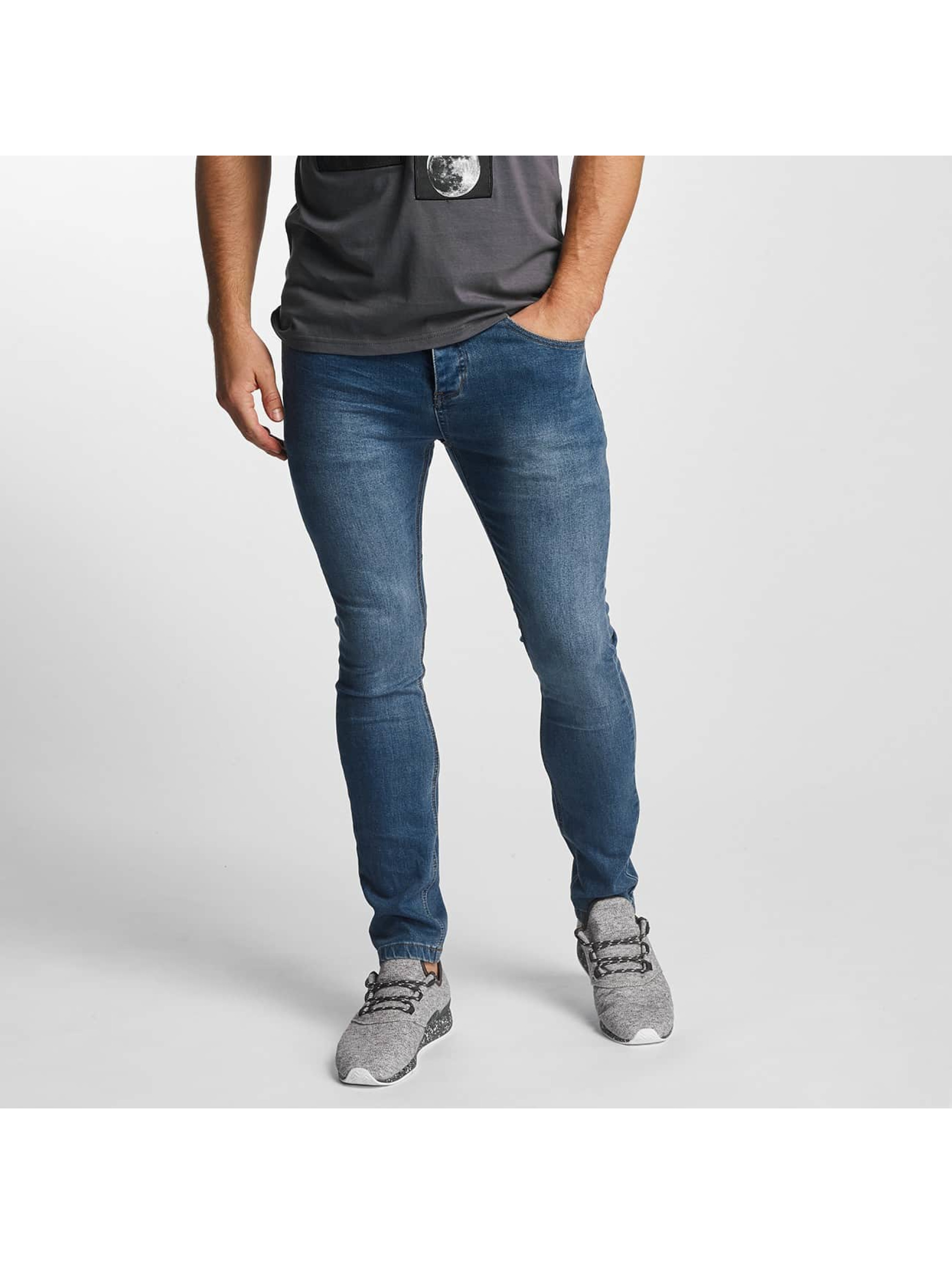 Sublevel Männer Skinny Jeans Zip Fly in blau