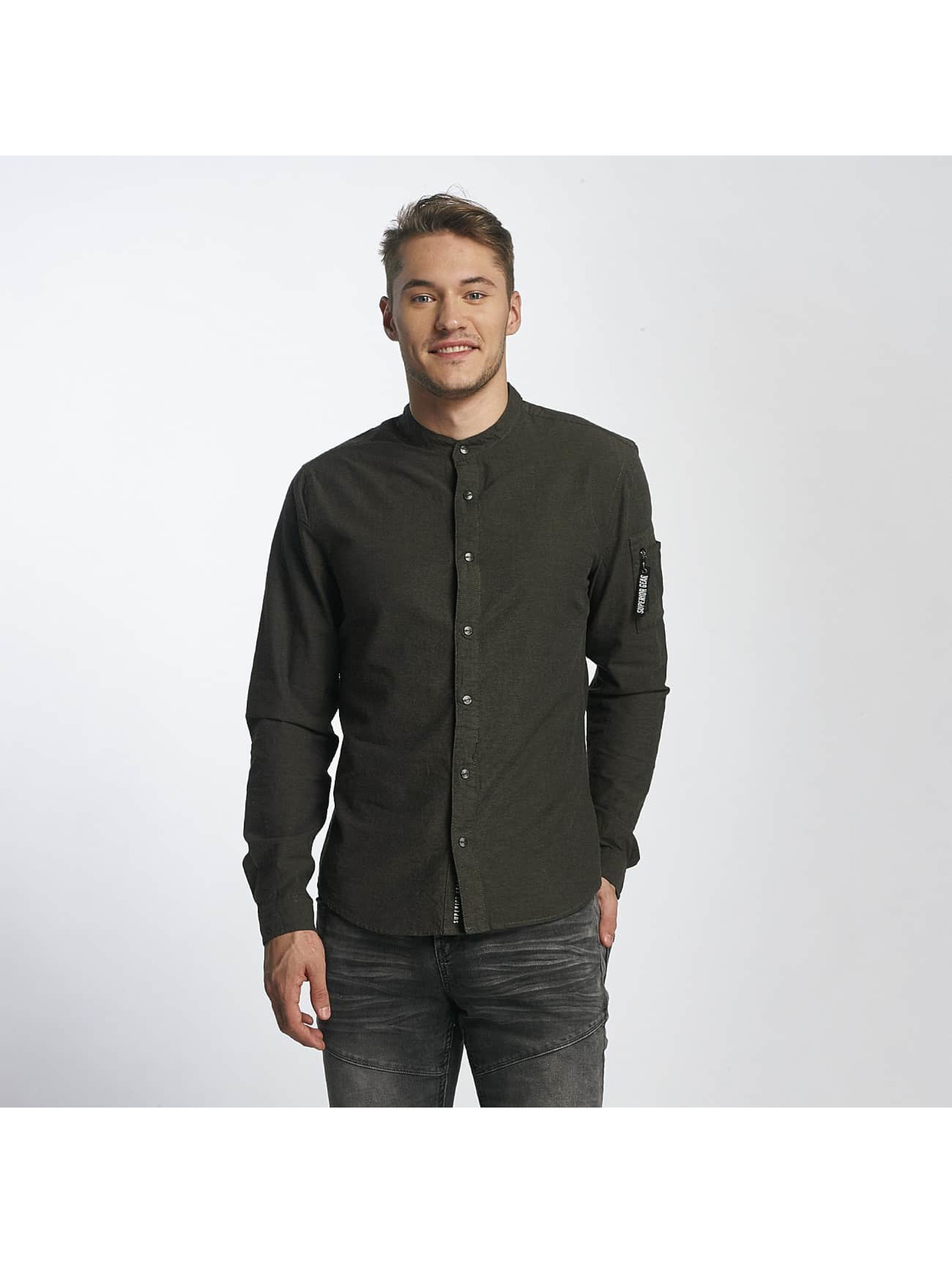 Sublevel Männer Hemd Button Down in olive