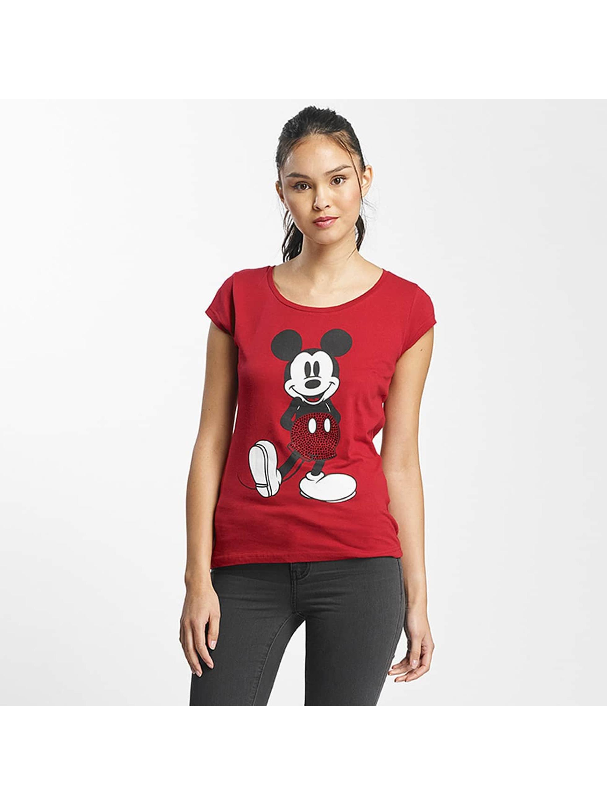 Rock Angel Frauen T-Shirt Mickey Mouse in rot