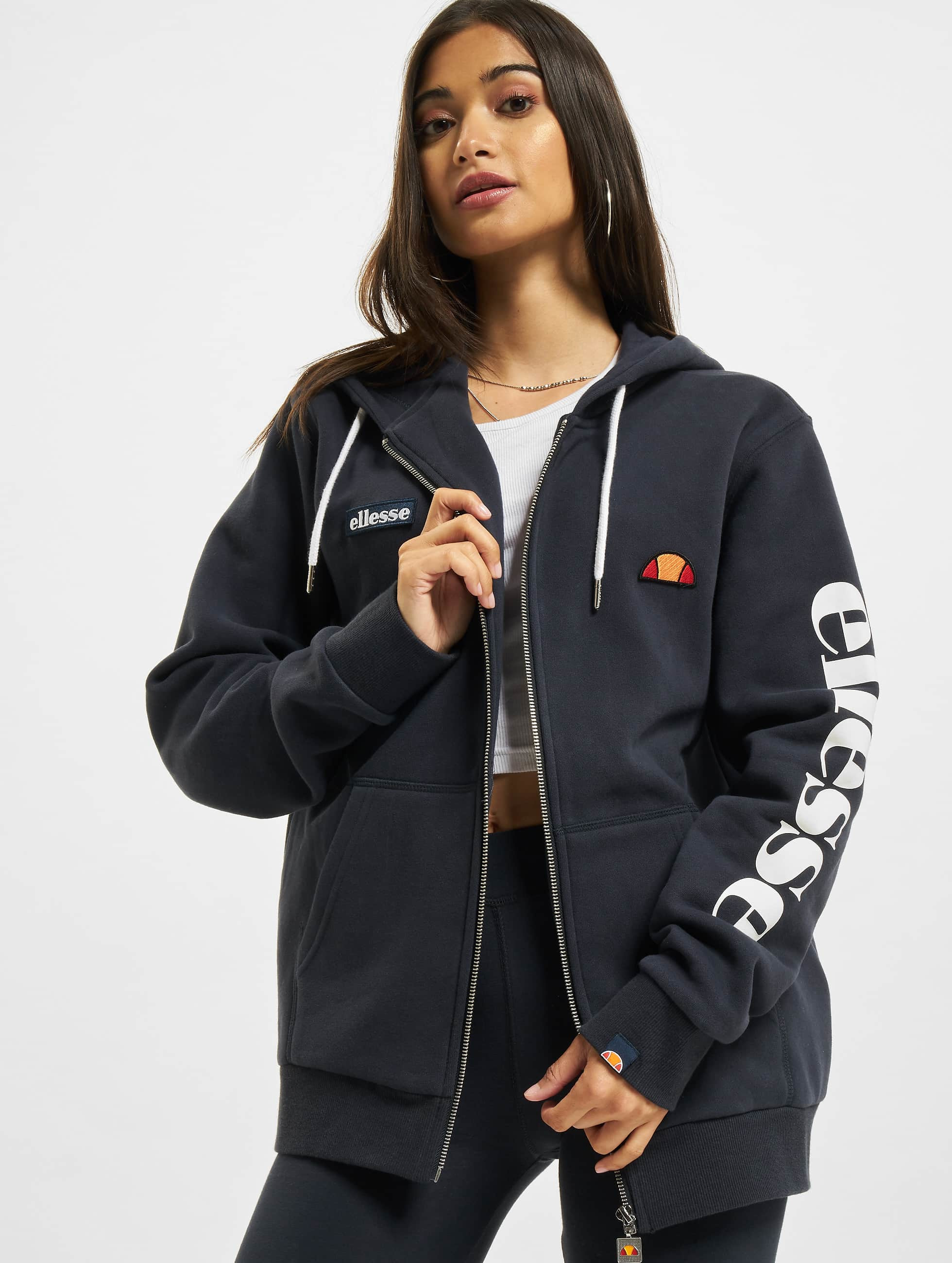 ellesse damen oberteile zip hoodie serinatas ebay. Black Bedroom Furniture Sets. Home Design Ideas