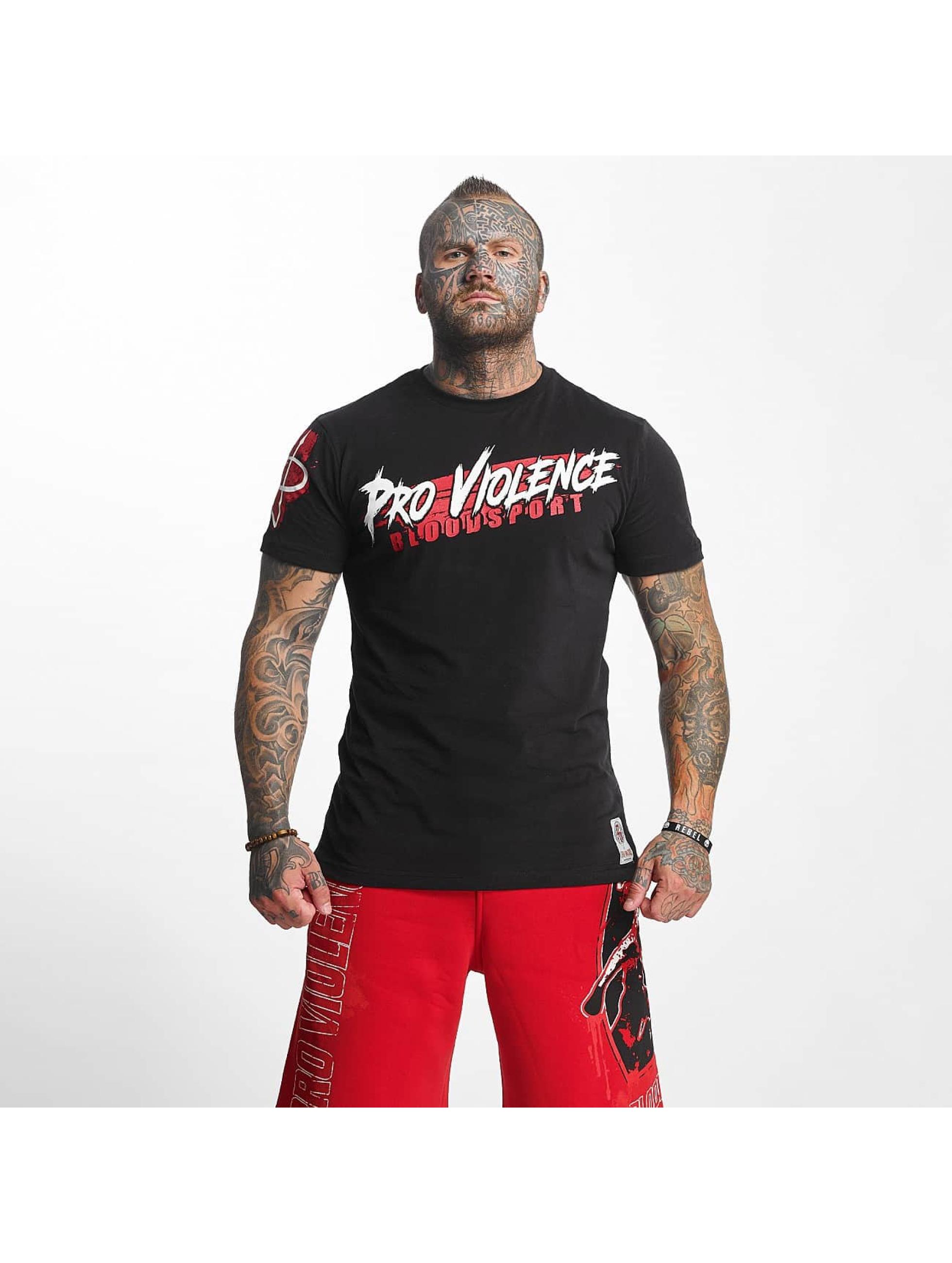Pro Violence Streetwear Männer T-Shirt Bloodsport in schwarz