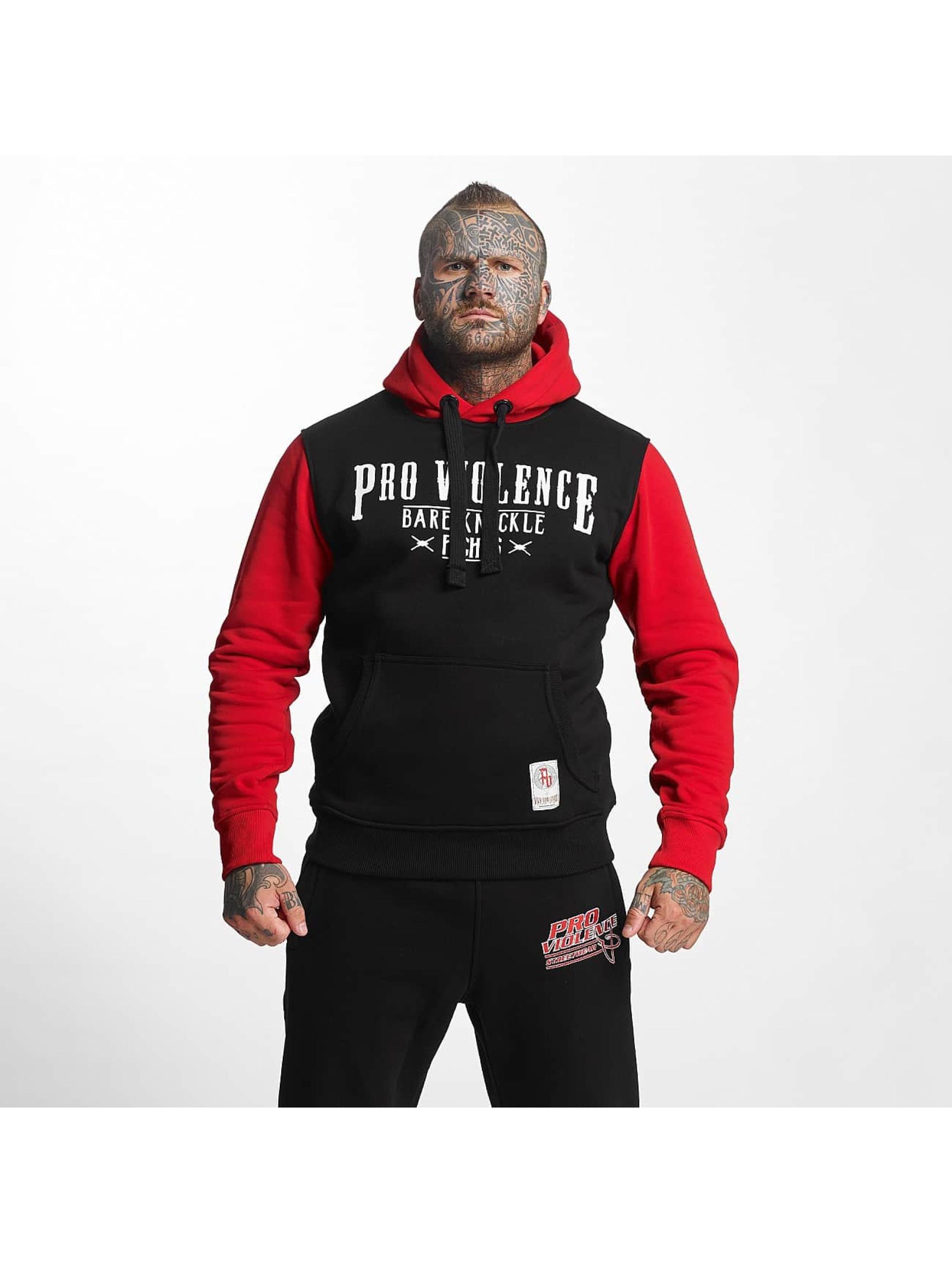 Pro Violence Streetwear Männer Hoody Nuckle Bare in schwarz