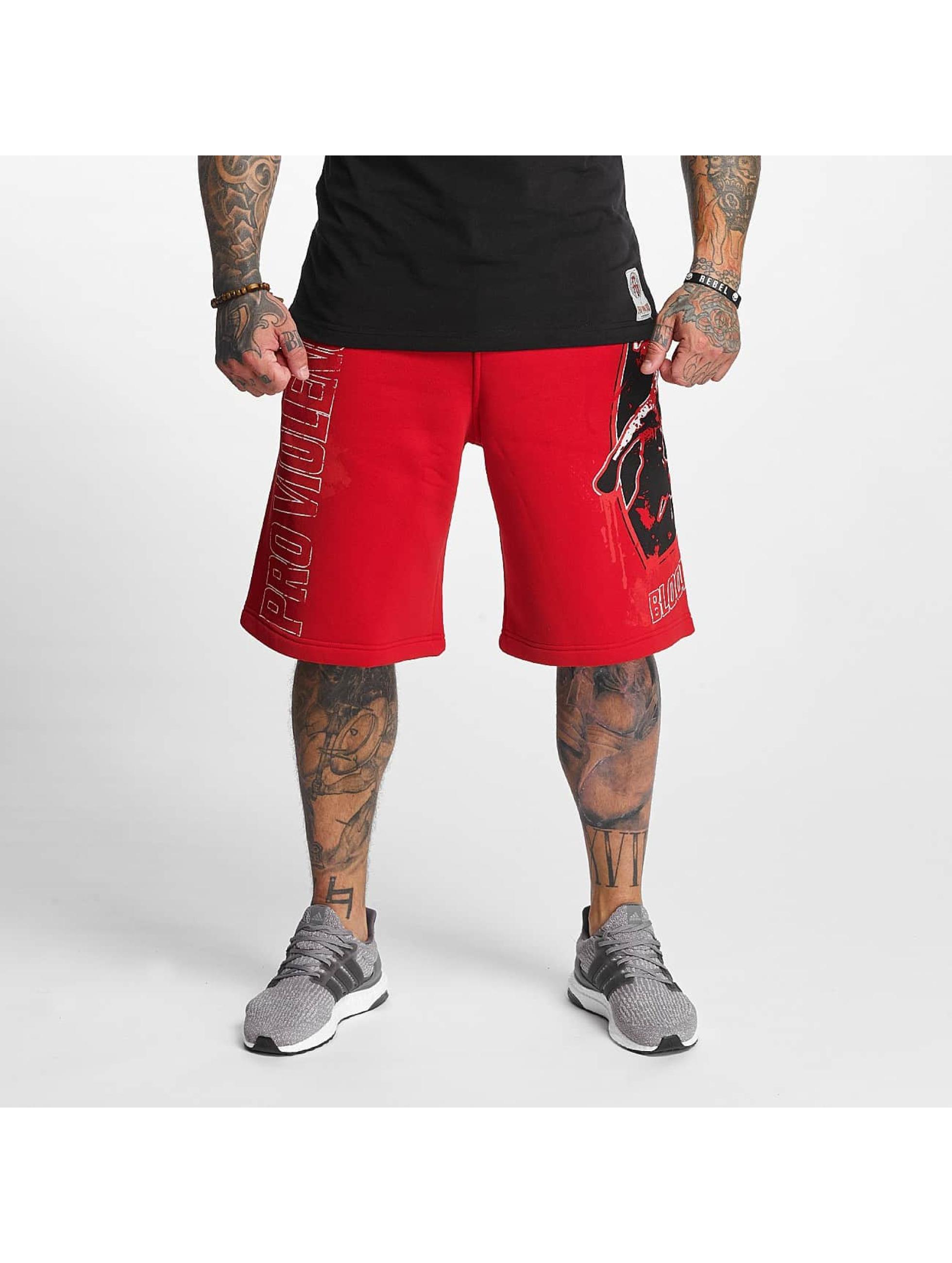Pro Violence Streetwear Männer Shorts Bloodsport in rot