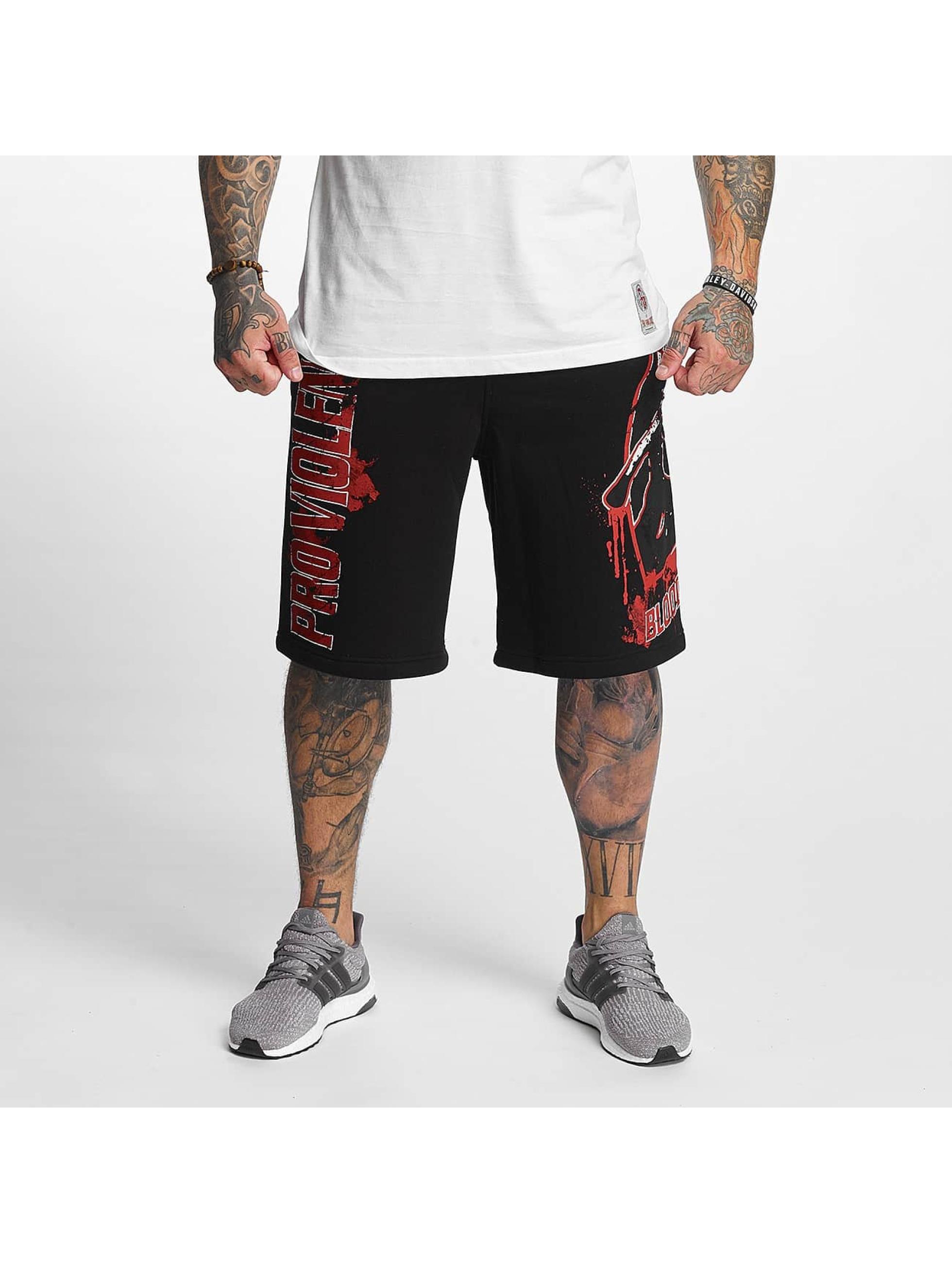 Pro Violence Streetwear Männer Shorts Bloodsport in schwarz