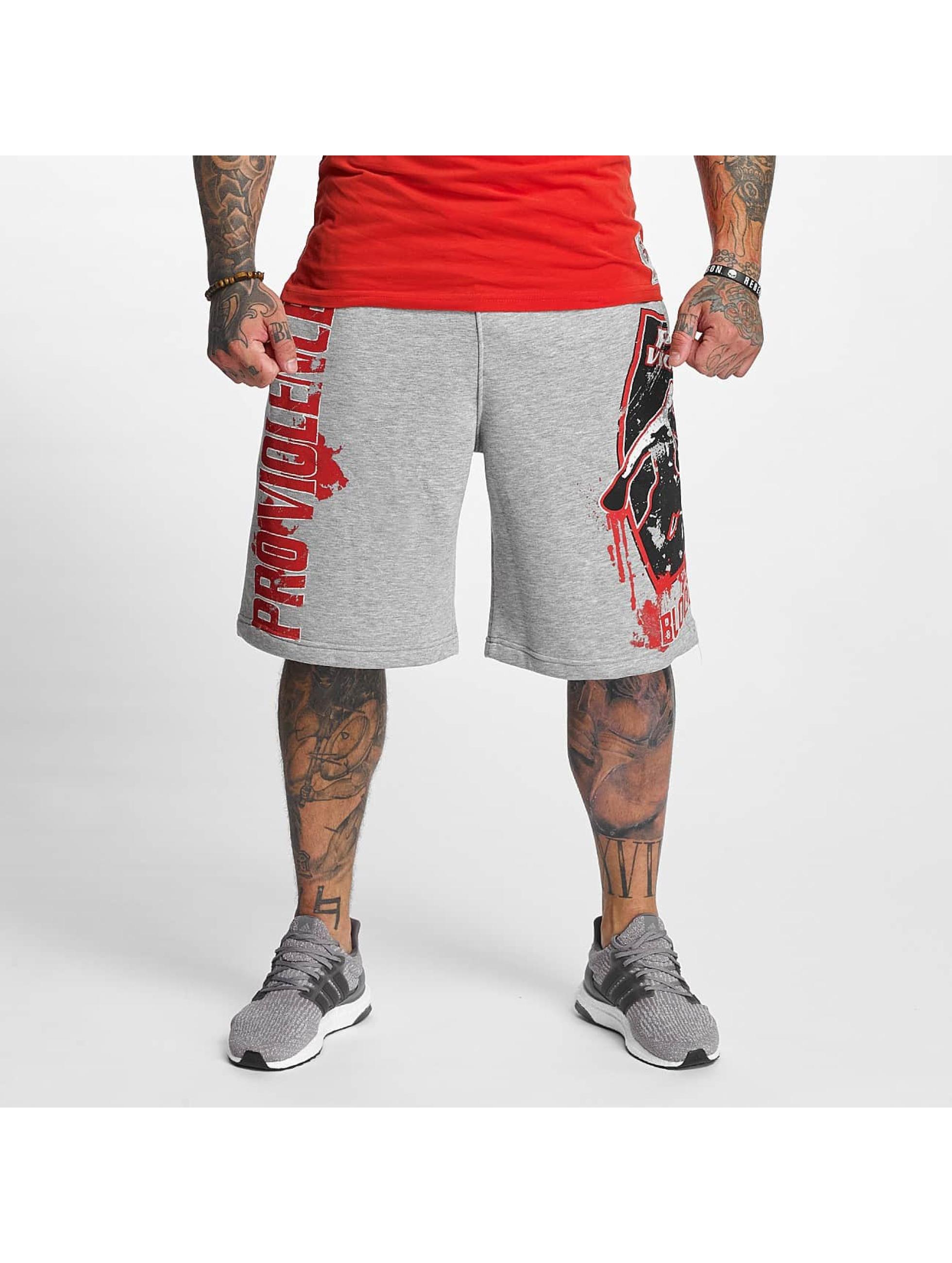 Pro Violence Streetwear Männer Shorts Bloodsport in grau