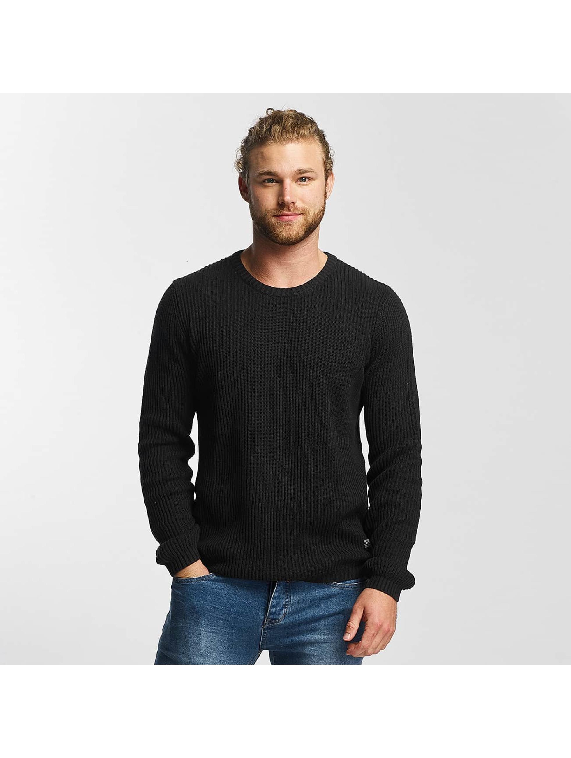 SHINE Original Männer Pullover O-Neck Knit in schwarz
