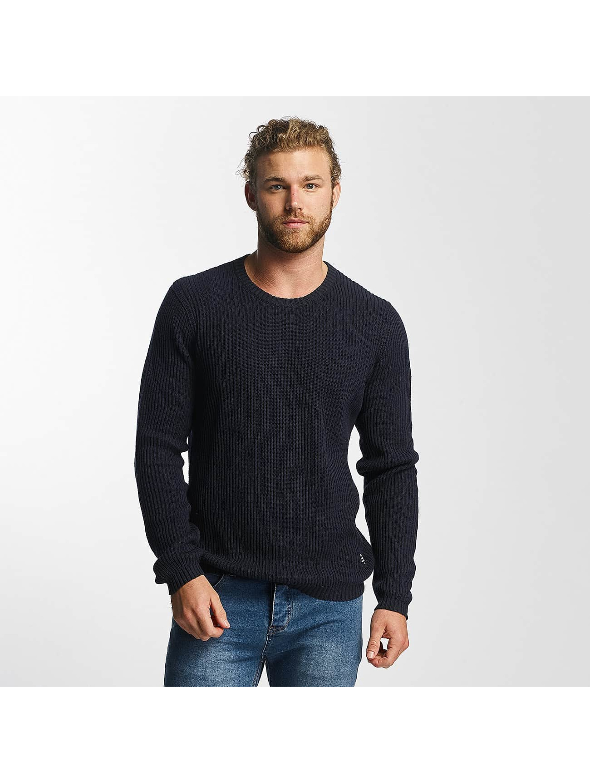 SHINE Original Männer Pullover O-Neck Knit in blau