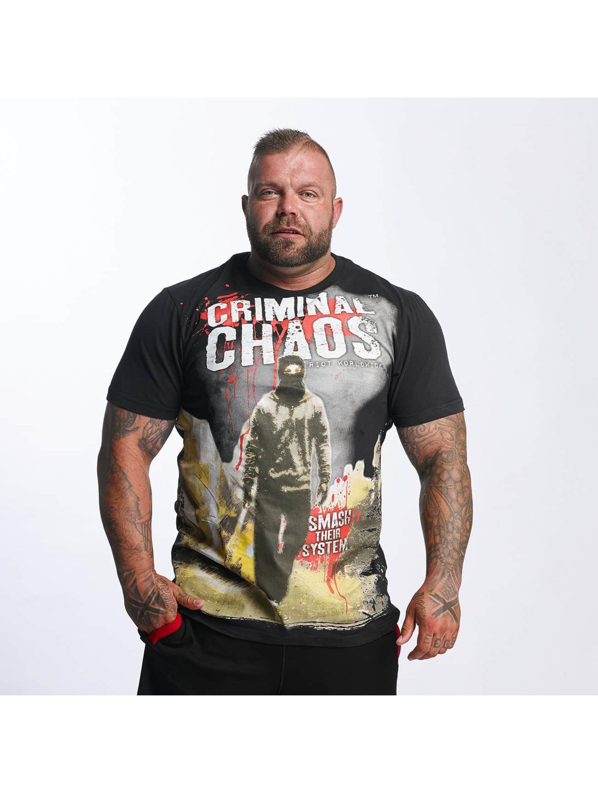 Mafia & Crime Männer T-Shirt Criminal Chaos in schwarz