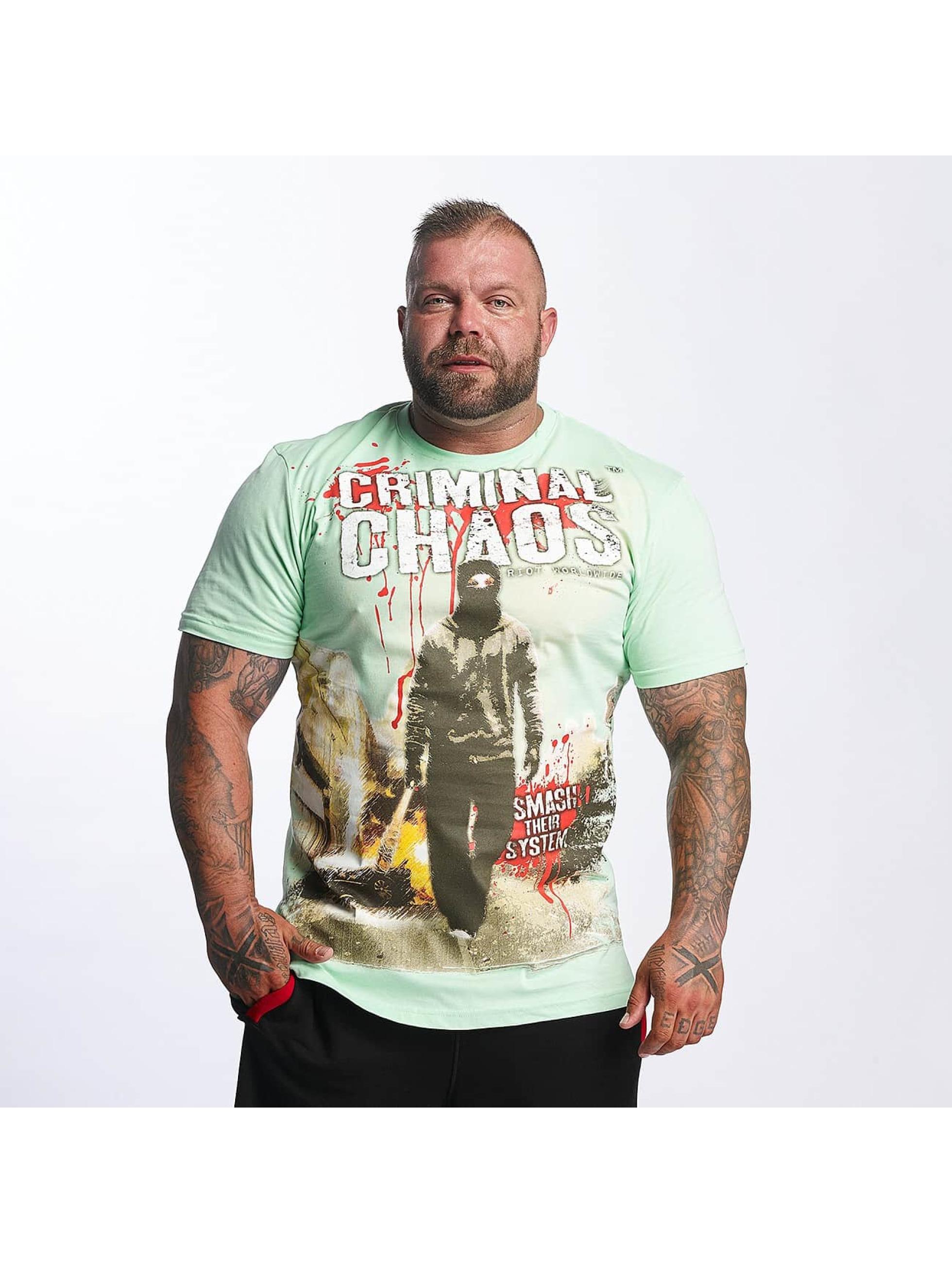 Mafia & Crime Männer T-Shirt Criminal Chaos in grün