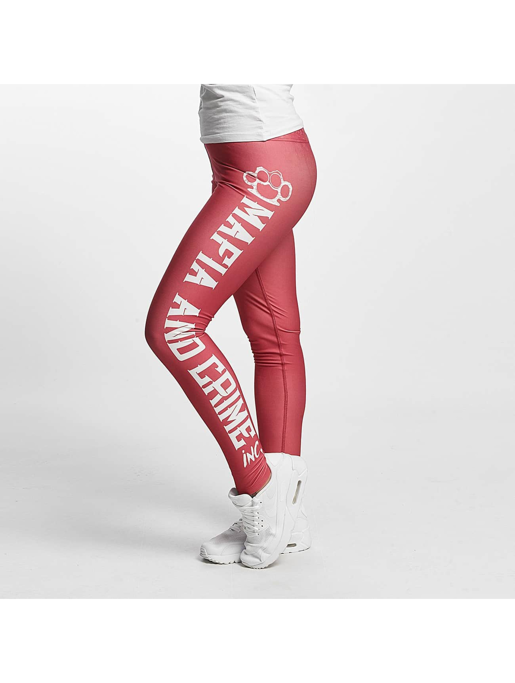 Mafia & Crime Frauen Legging Girls in rosa