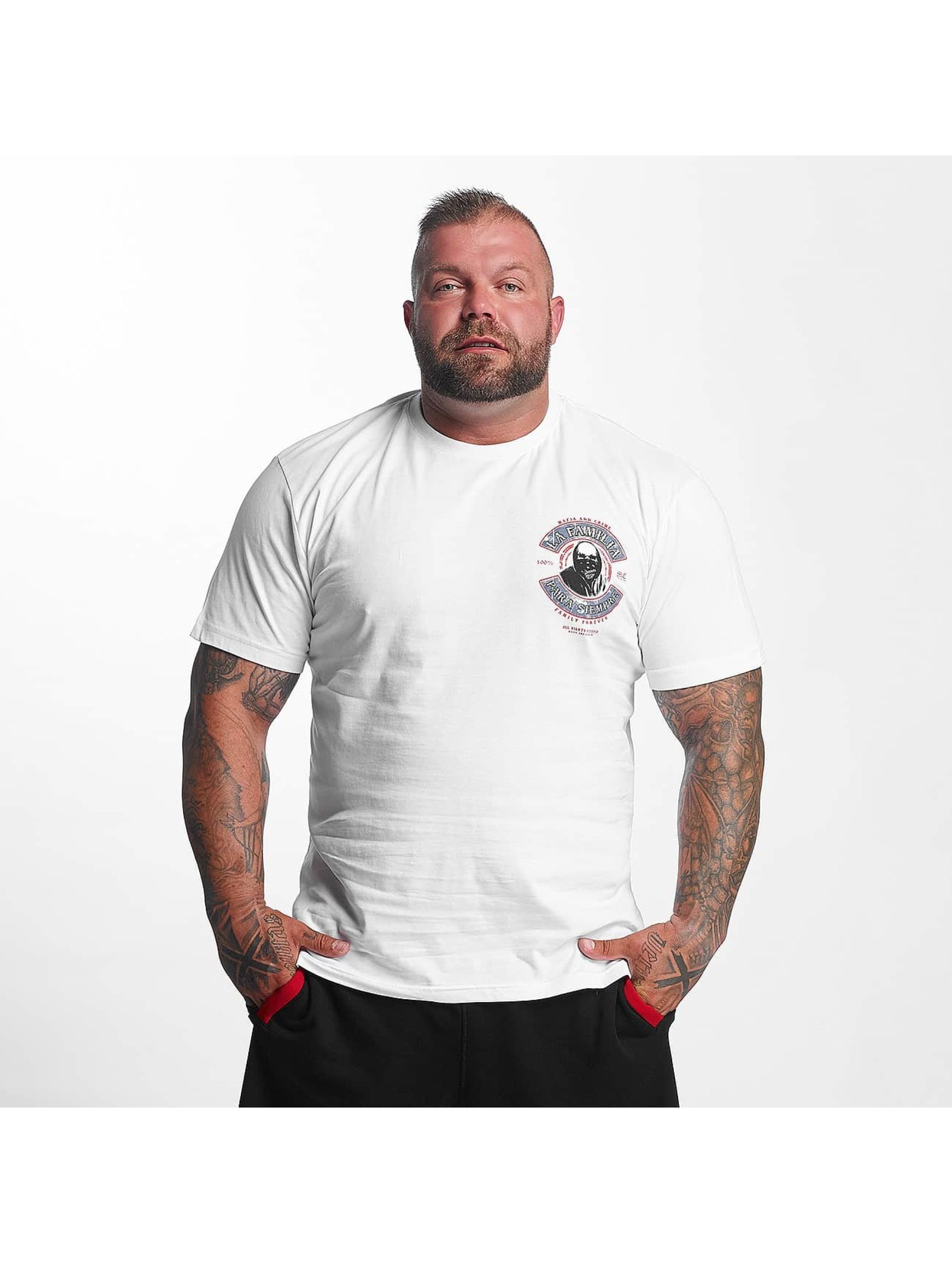 Mafia & Crime Männer T-Shirt PARA SIEMPRE in weiß