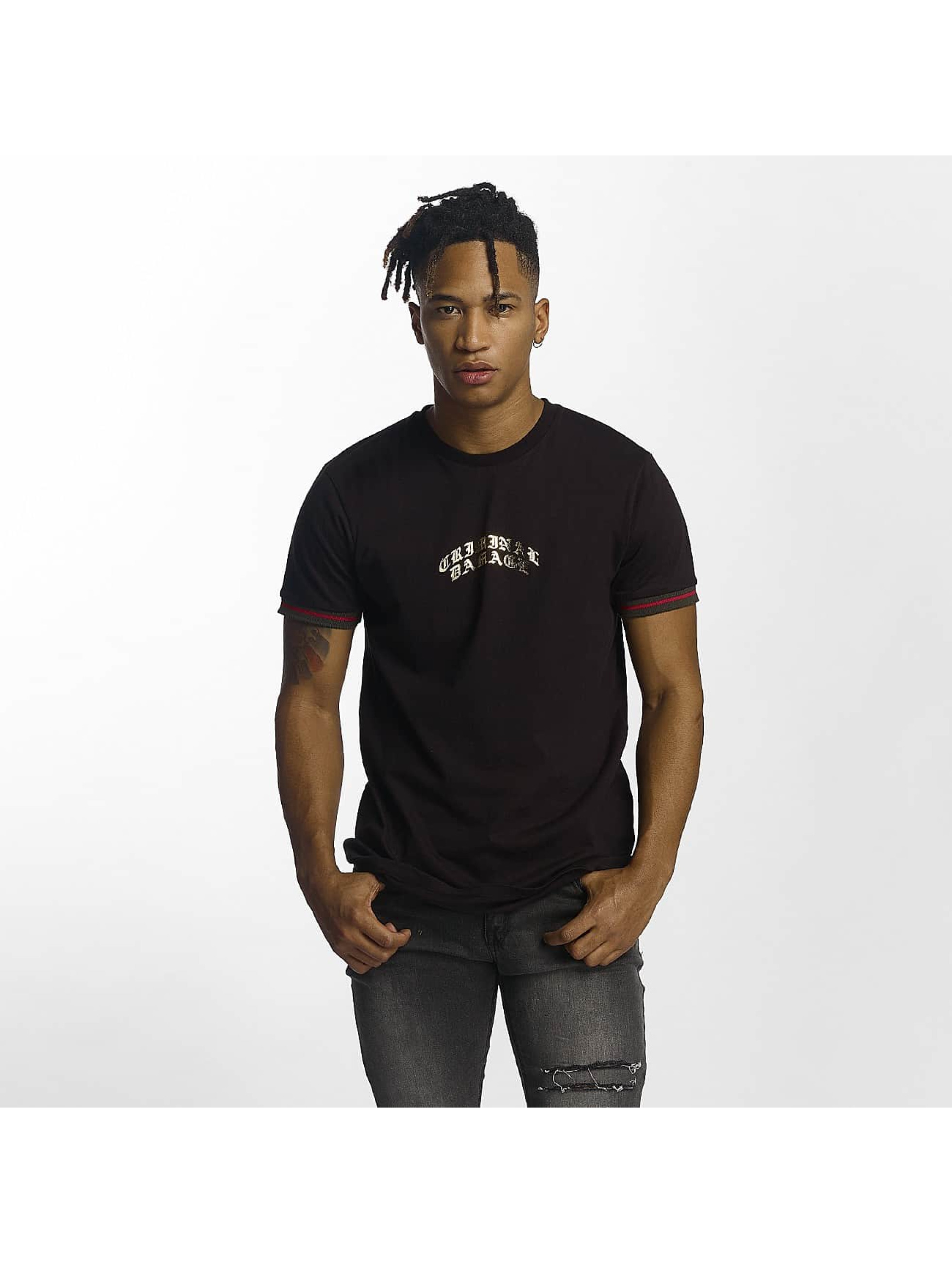 Criminal Damage Männer T-Shirt Cucci in schwarz