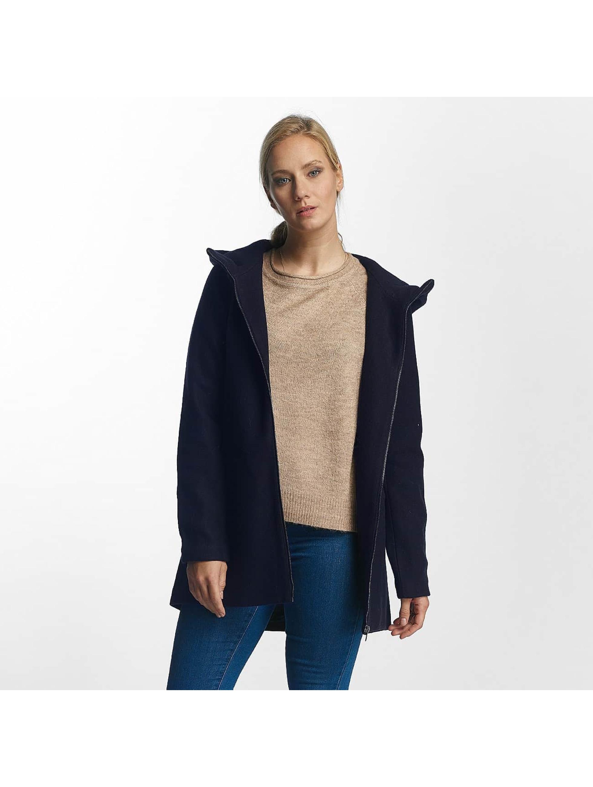 Only Frauen Mantel onlDogville Camille Wool in blau
