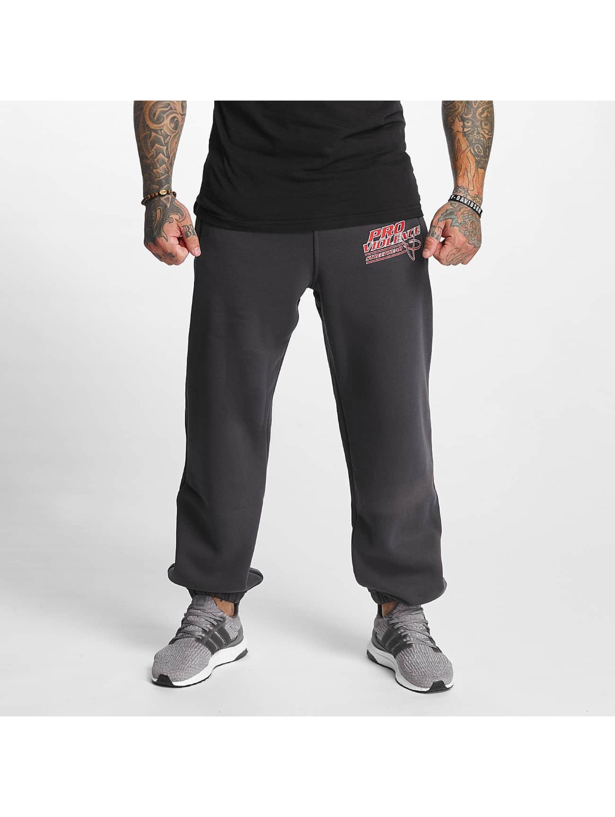 Pro Violence Streetwear Männer Jogginghose Label No. 1 in grau