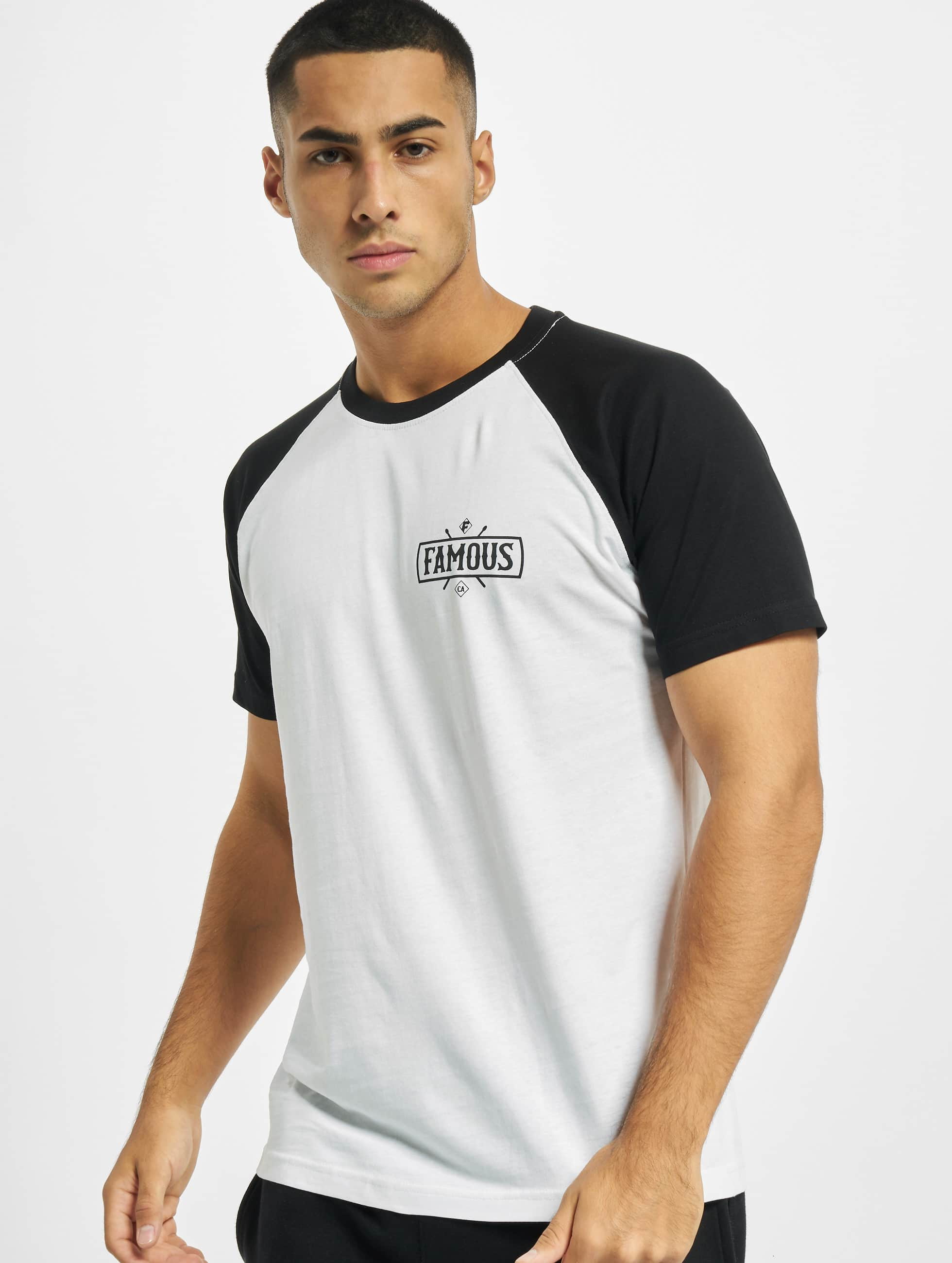 Famous Stars and Straps Männer T-Shirt Chaos Patch Raglan in weiß