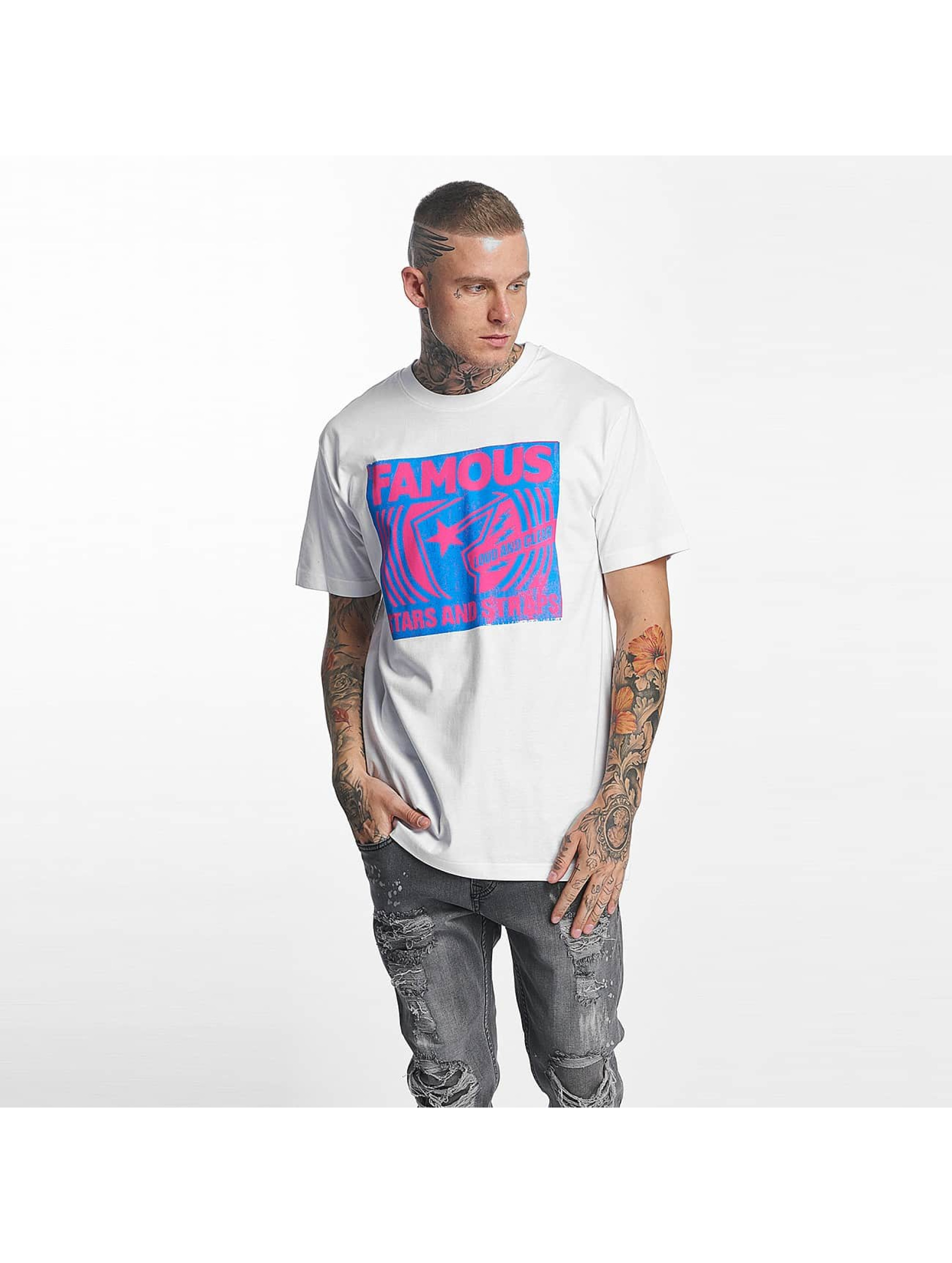 Famous Stars and Straps Männer T-Shirt Loud and Clear in weiß