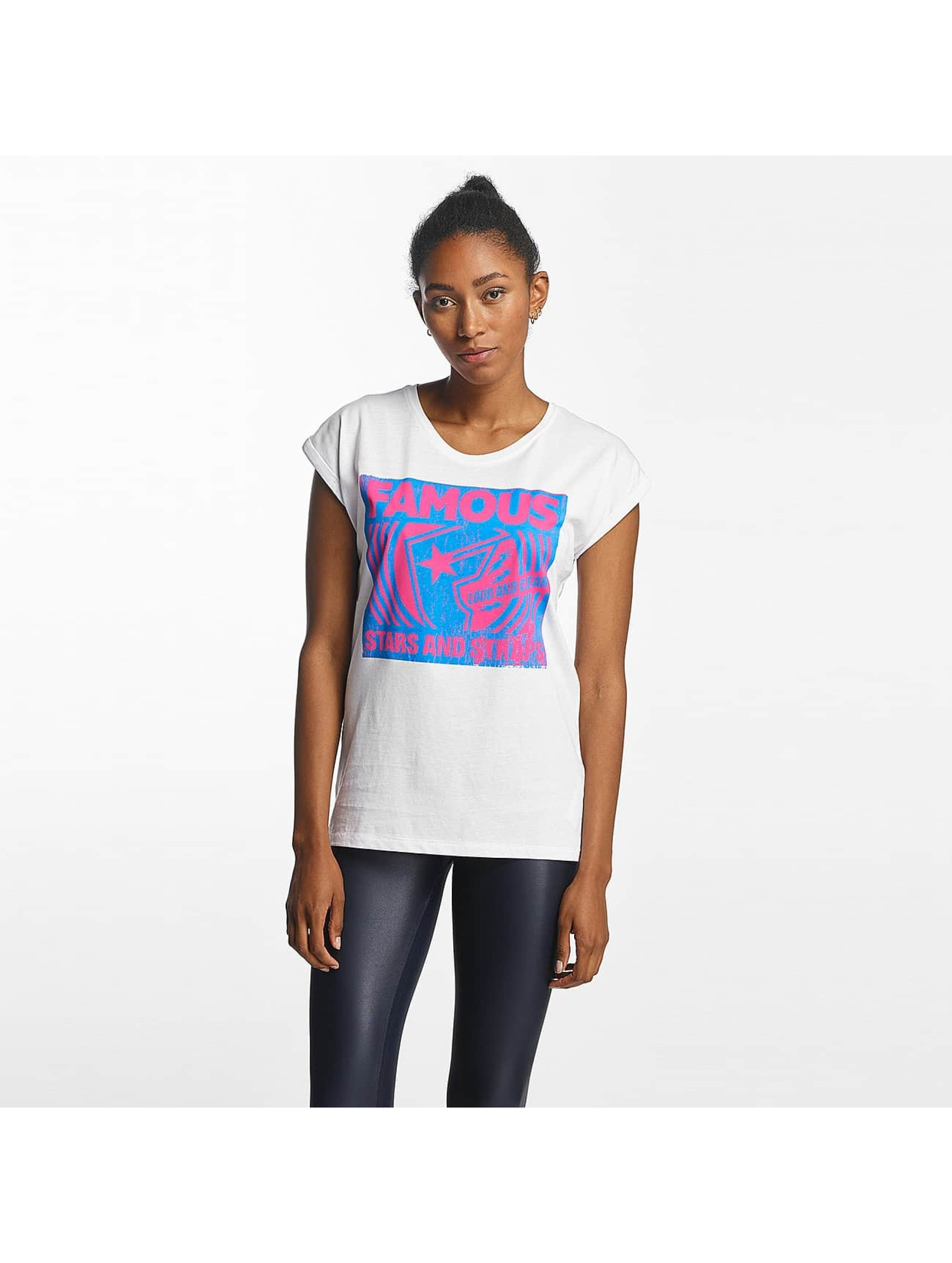 Famous Stars and Straps Frauen T-Shirt Loud and Clear in weiß