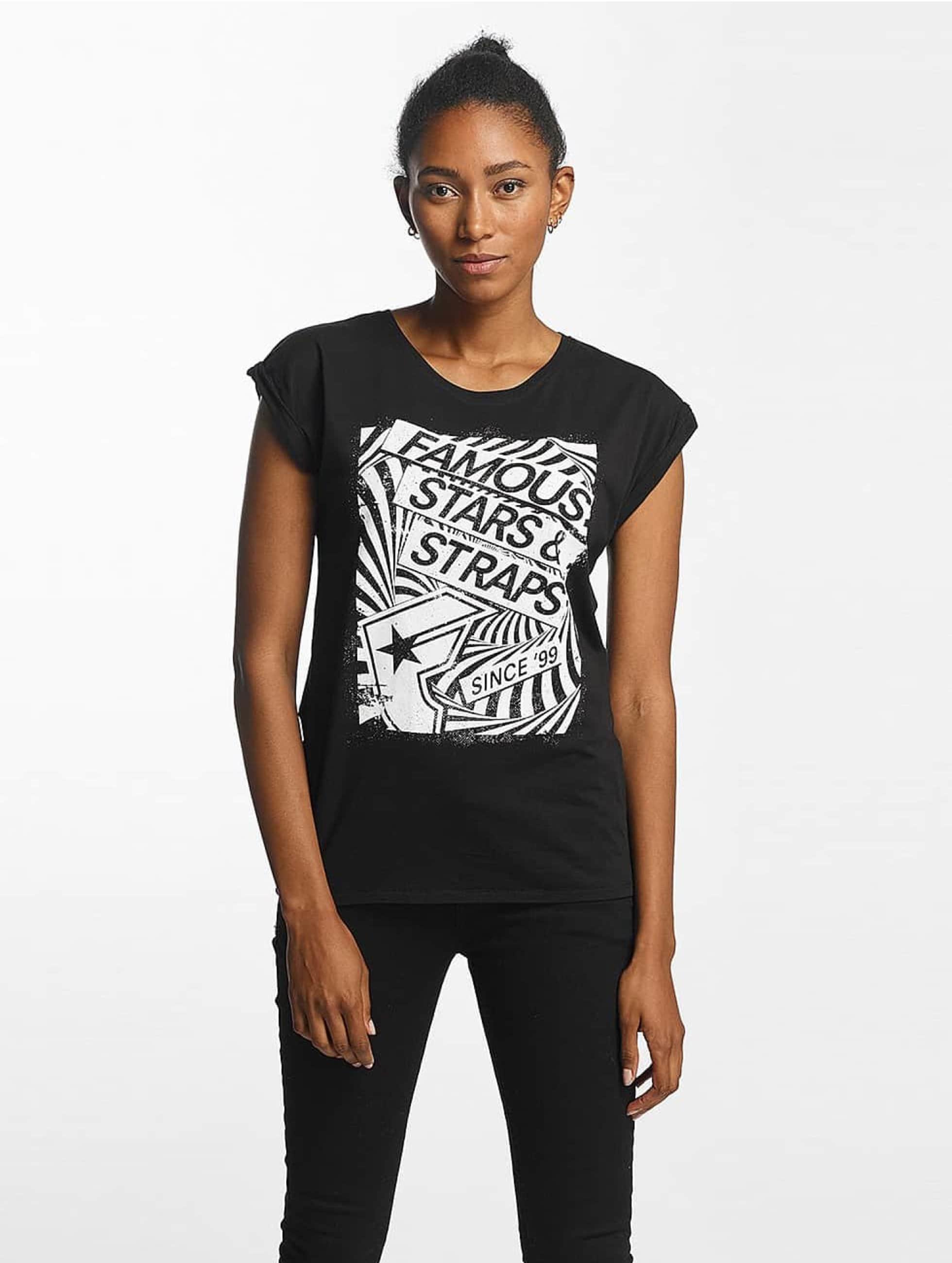 Famous Stars and Straps Frauen T-Shirt Zone in schwarz