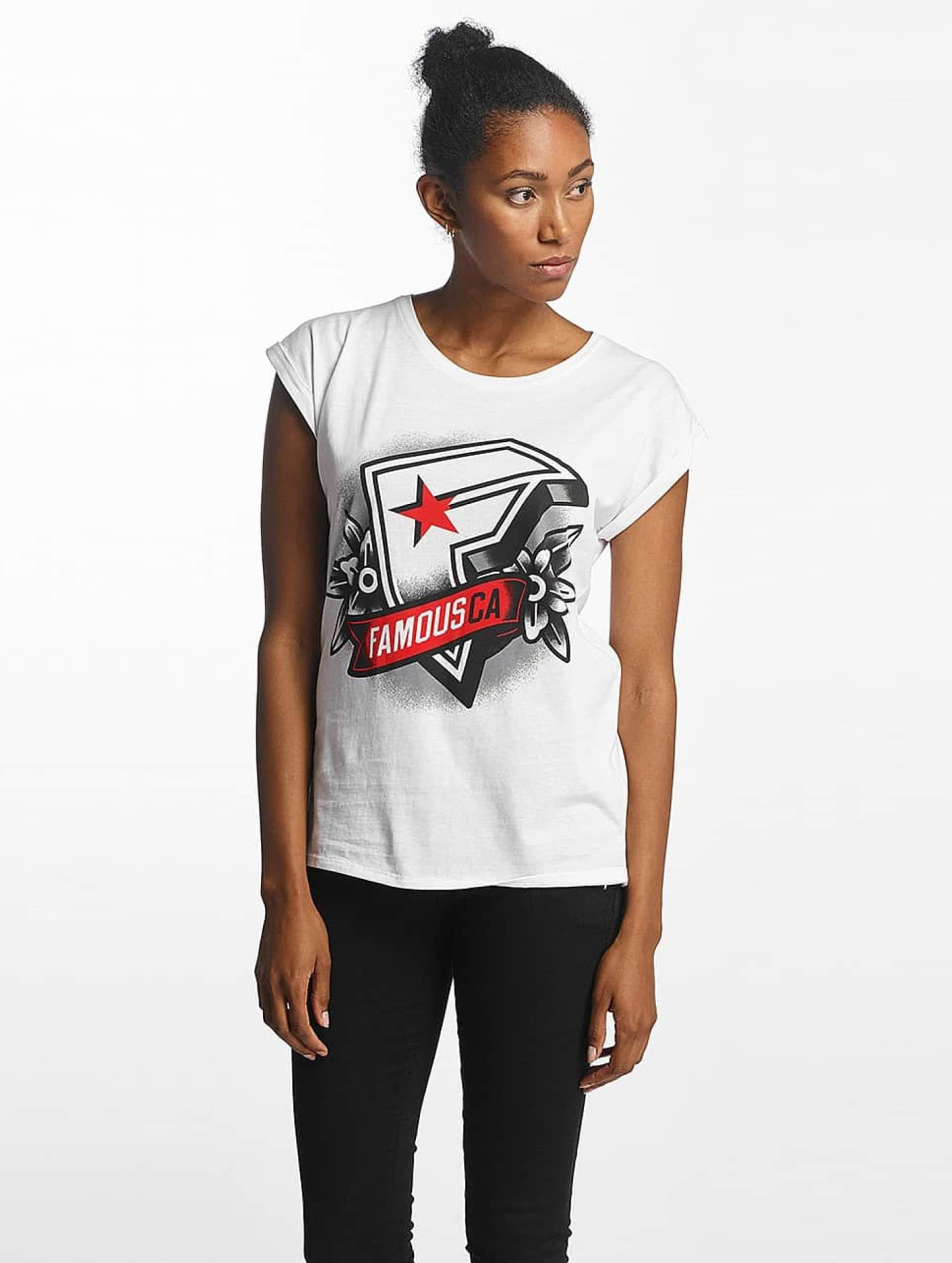 Famous Stars and Straps Frauen T-Shirt CA in weiß