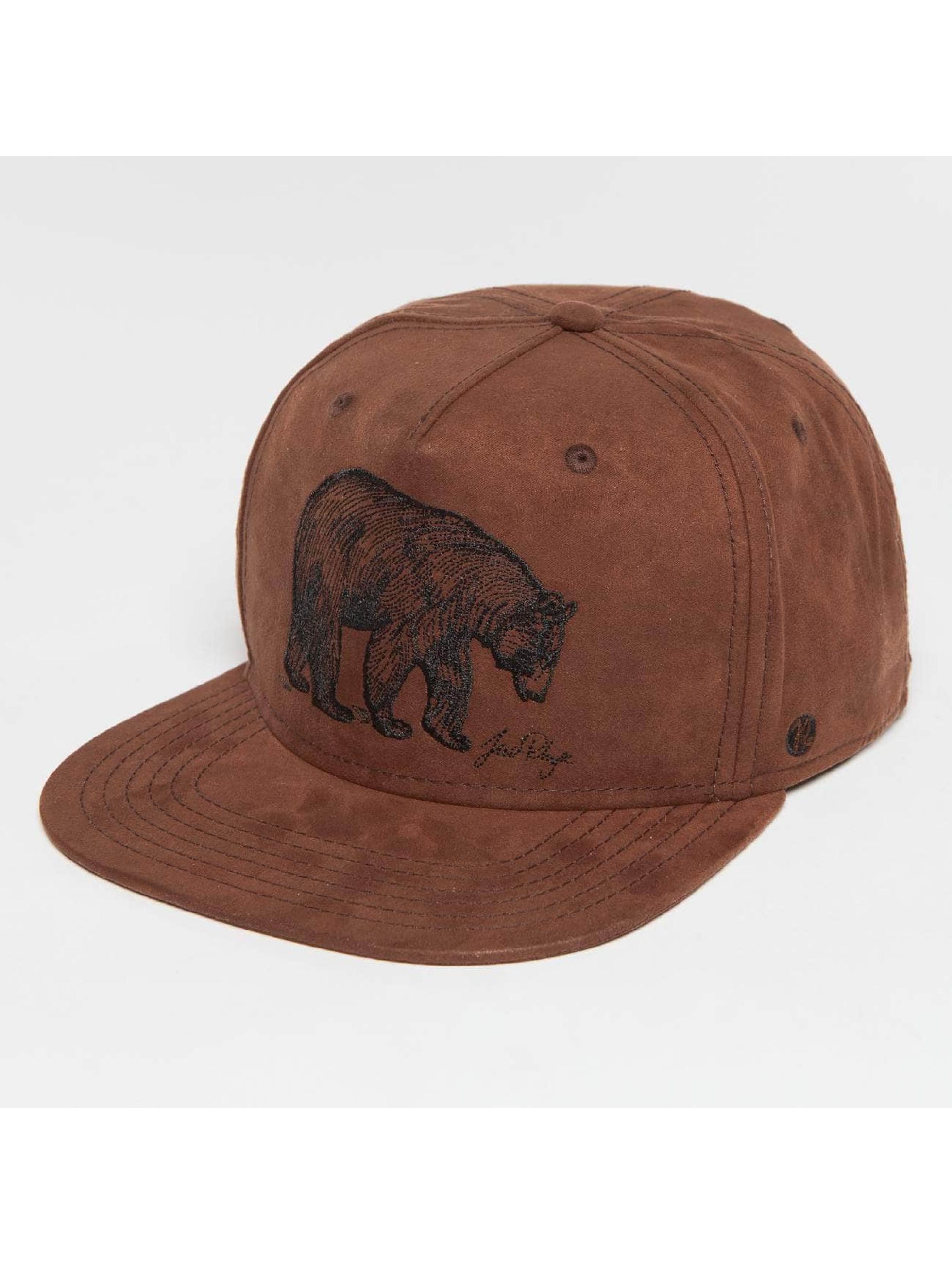 Just Rhyse / Snapback Cap Glennallen in brown Adjustable