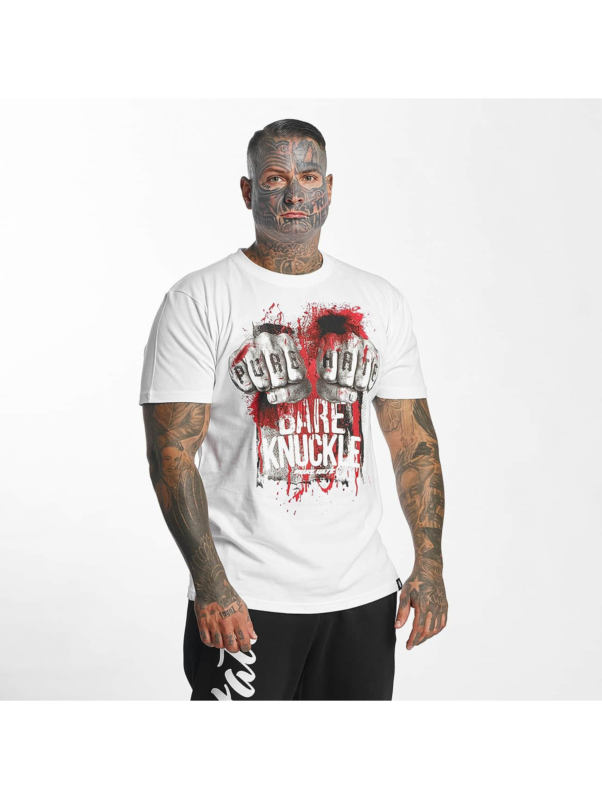 Pure Hate Männer T-Shirt Bare Knuckle in weiß