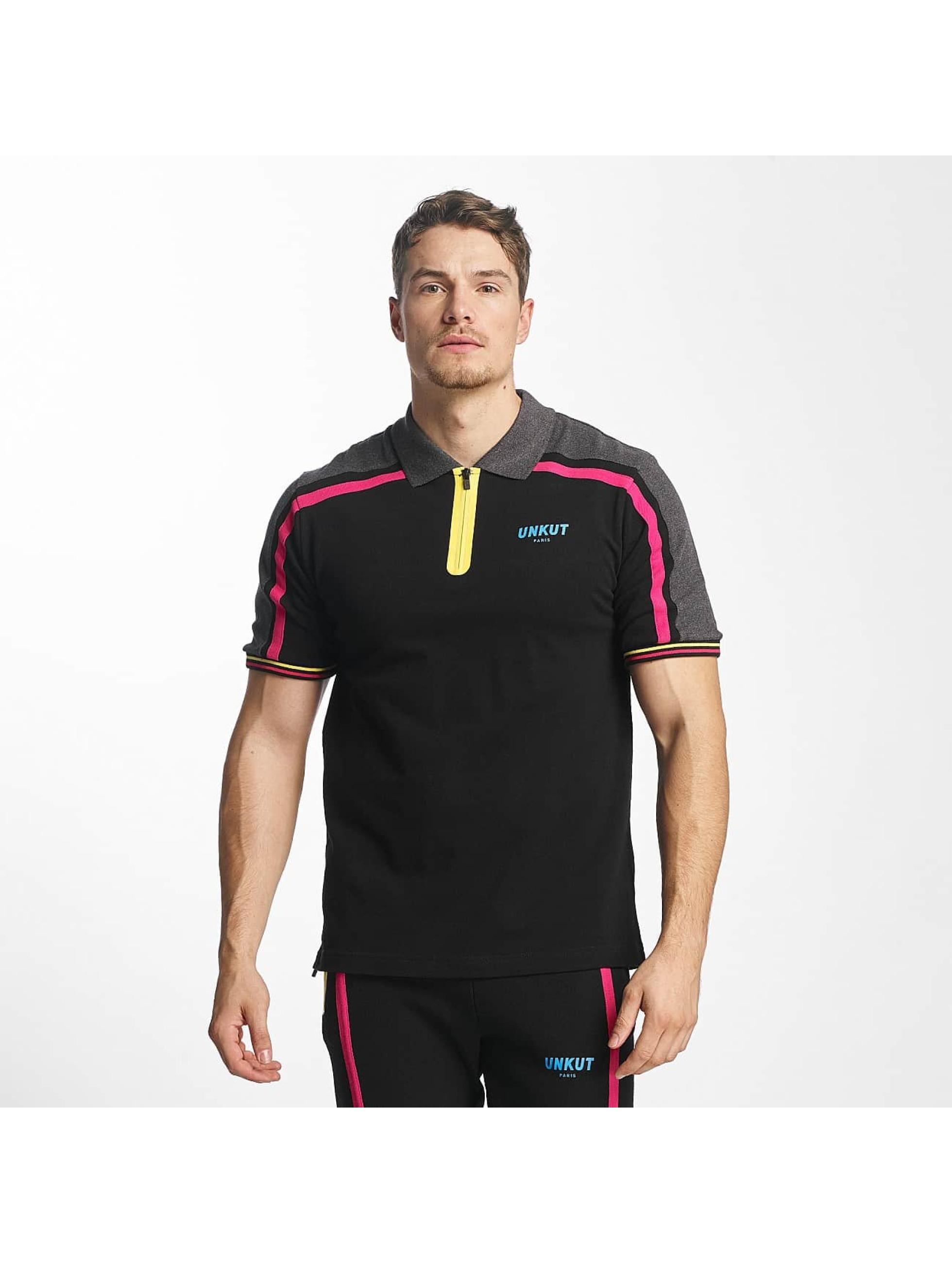 Unkut Männer Poloshirt Sidney in schwarz