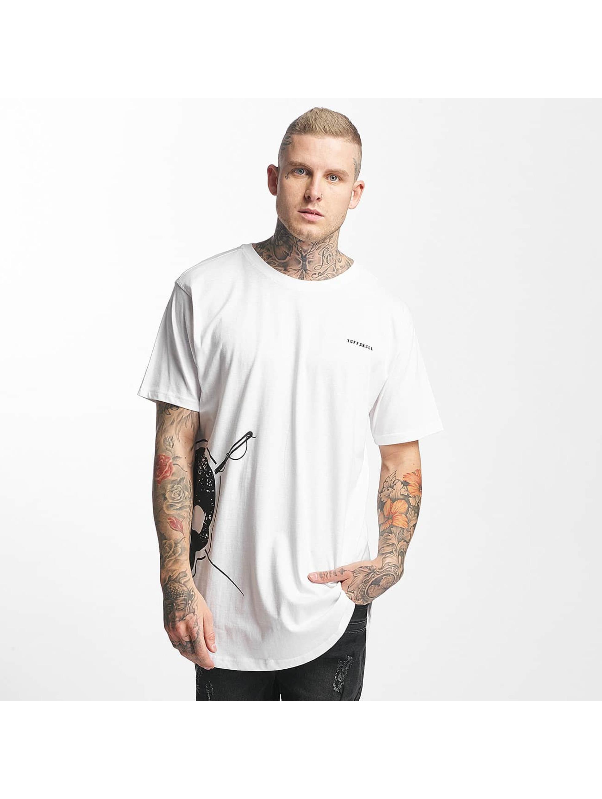 Tuffskull Männer T-Shirt BIGSKULL Long in weiß