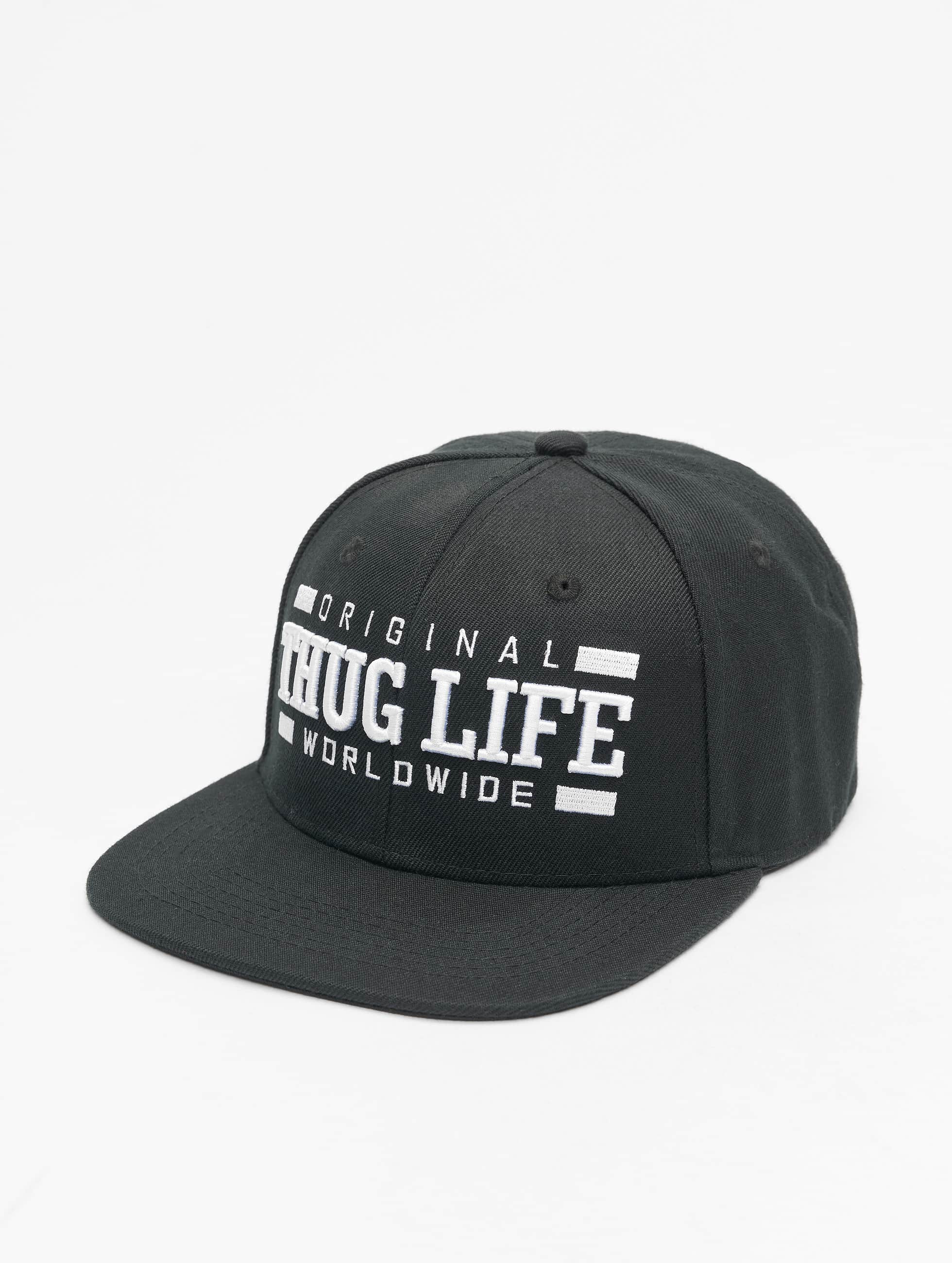 Thug Life / Fitted Cap Worldwide in black Adjustable