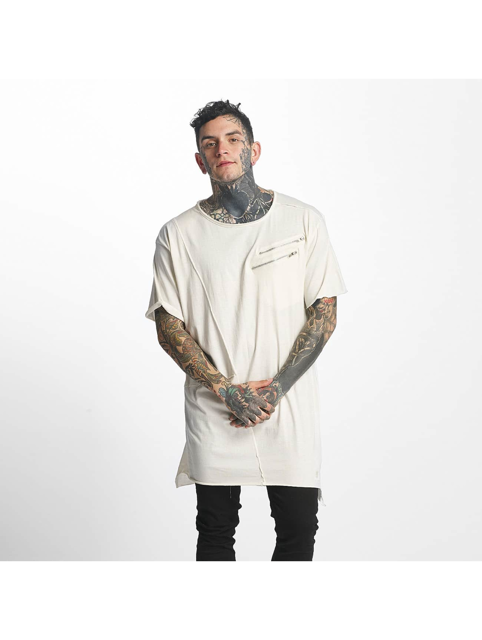 Tuffskull Männer Tall Tees Zipper in beige
