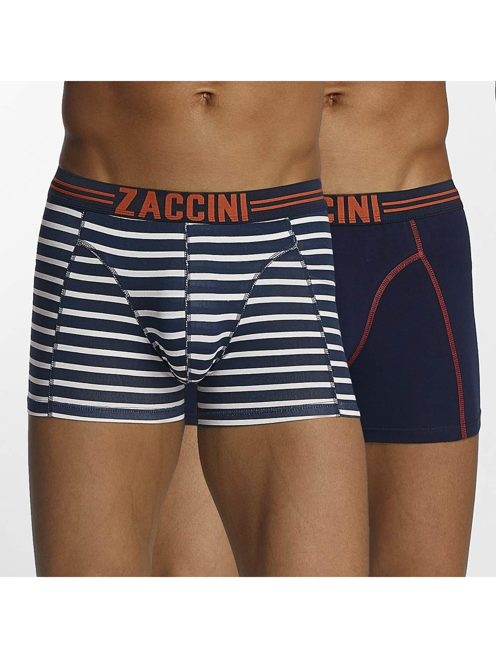 Zaccini Männer Boxershorts Stripe 2-Pack in blau