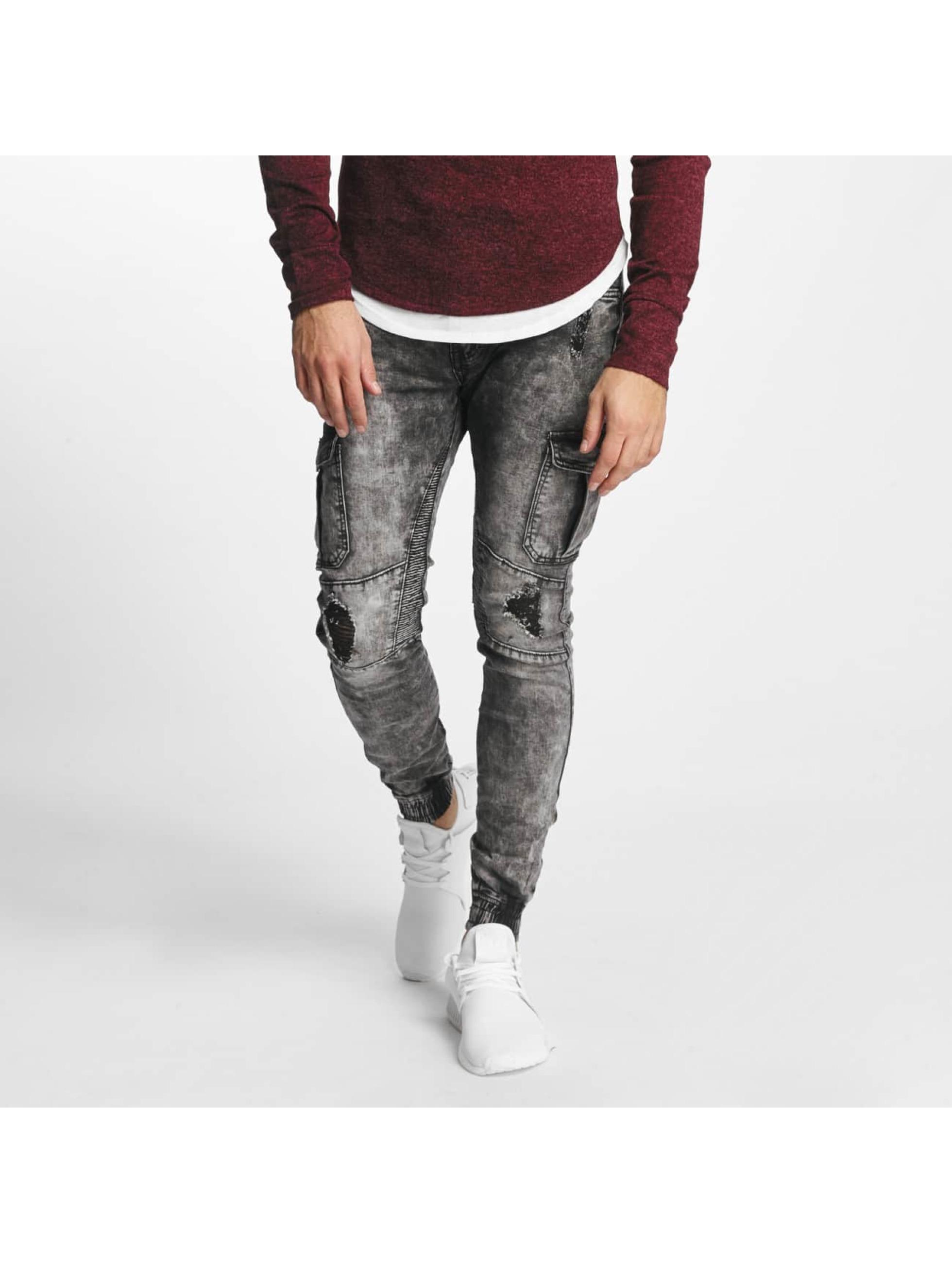 Aarhon Männer Slim Fit Jeans Nizza in schwarz