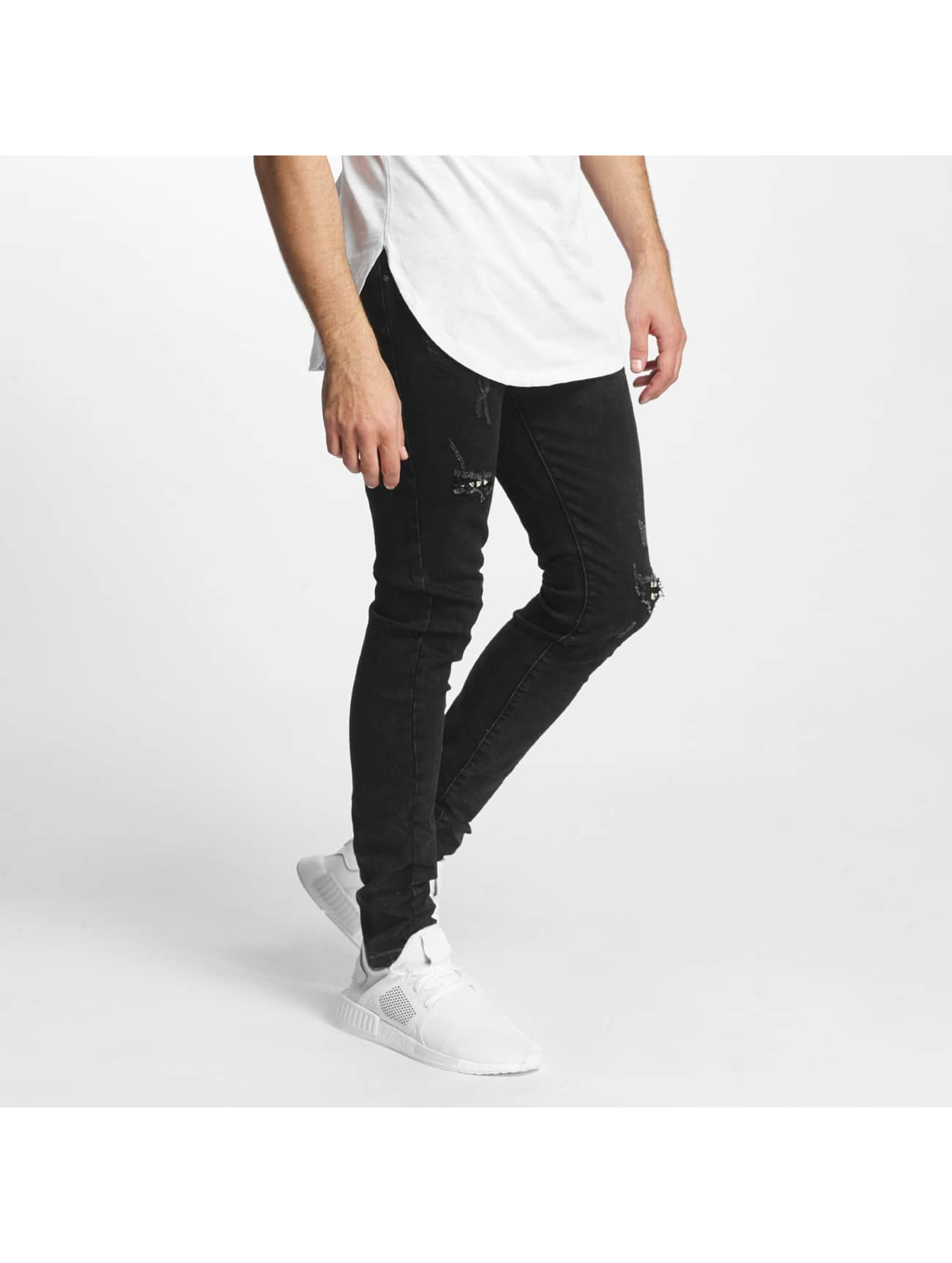 Aarhon Männer Slim Fit Jeans Laszio in schwarz