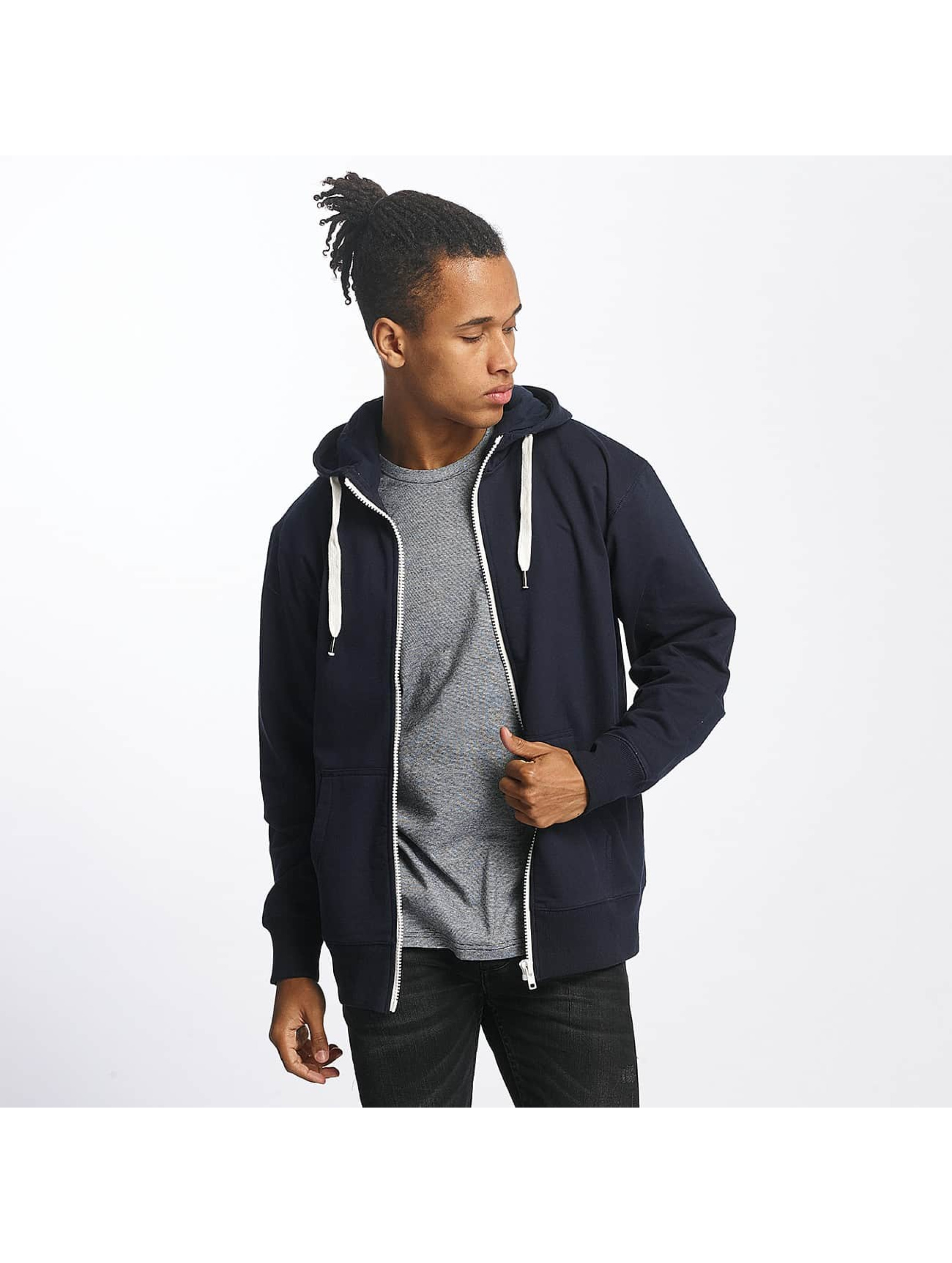 Paris Premium Männer Zip Hoodie Basic in blau