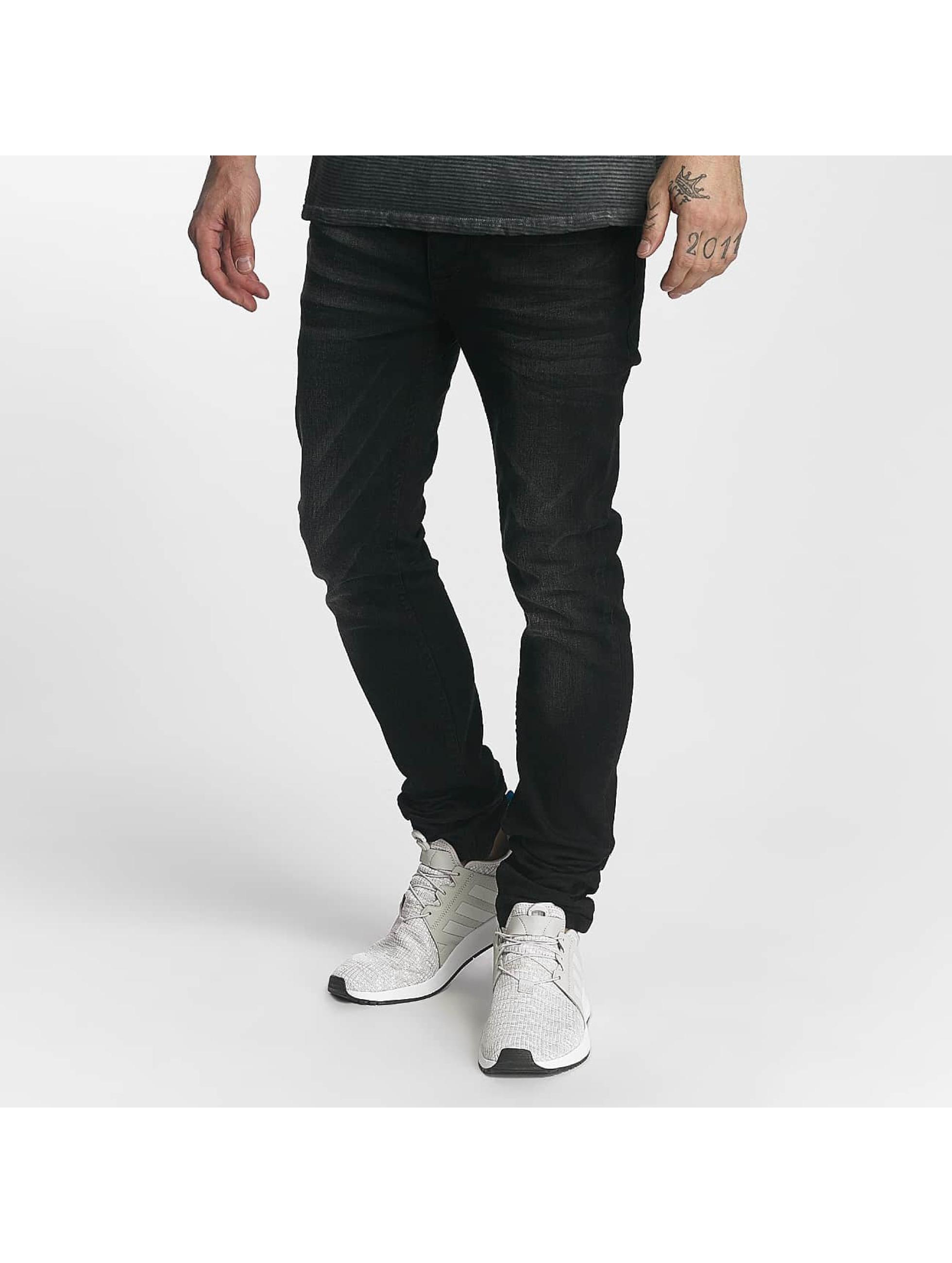 ID Denim Männer Straight Fit Jeans Ville in schwarz