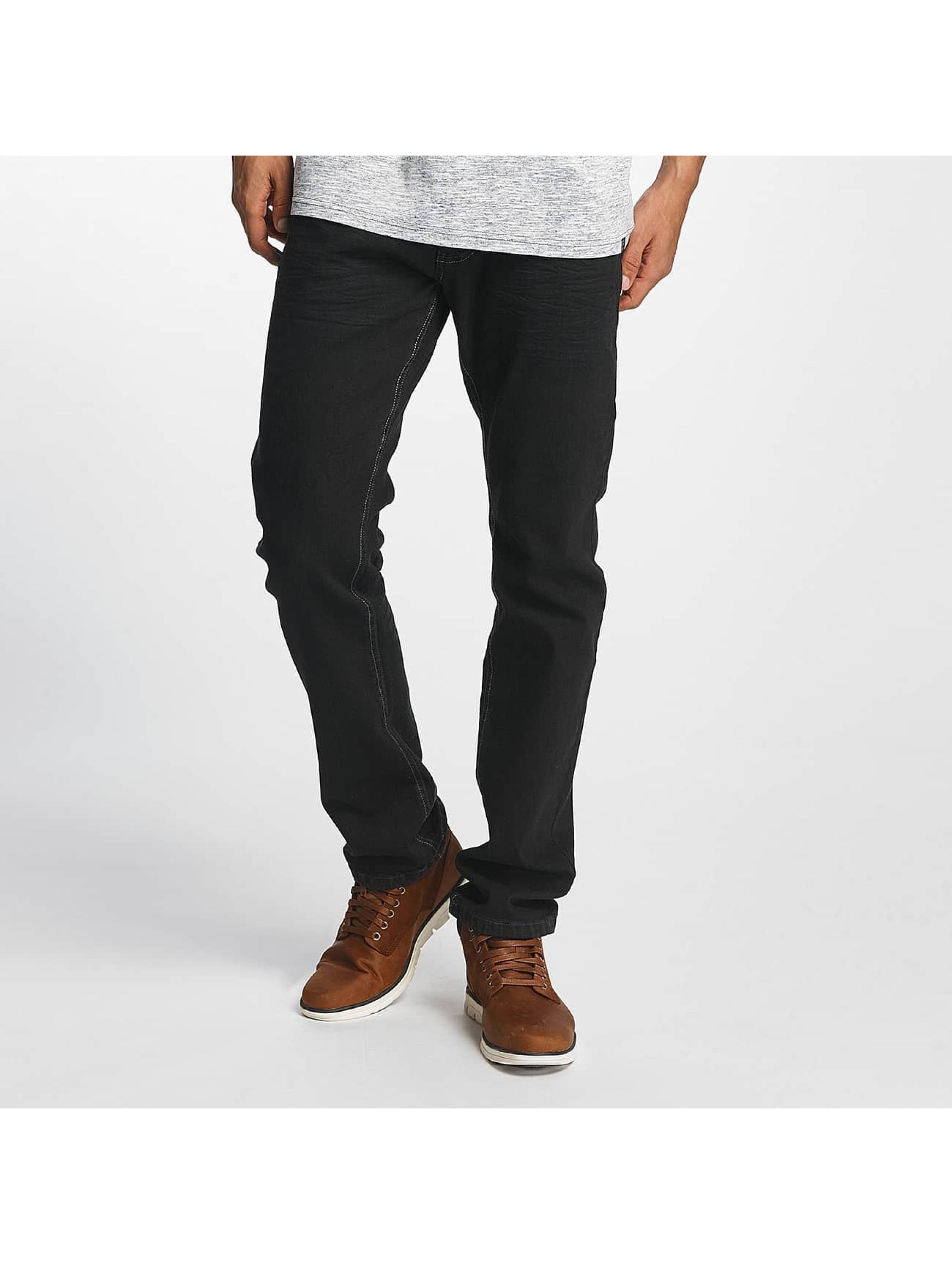 ID Denim Männer Straight Fit Jeans Basic in schwarz