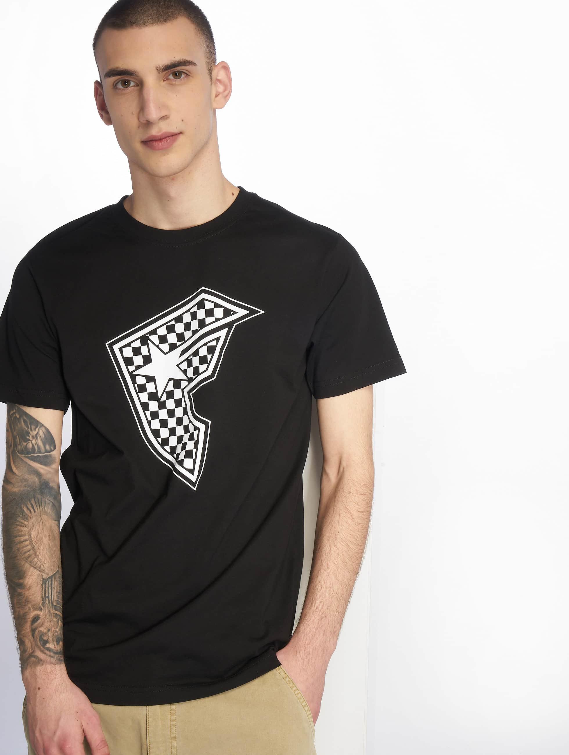 Famous Stars and Straps Männer T-Shirt Checker Badge in schwarz