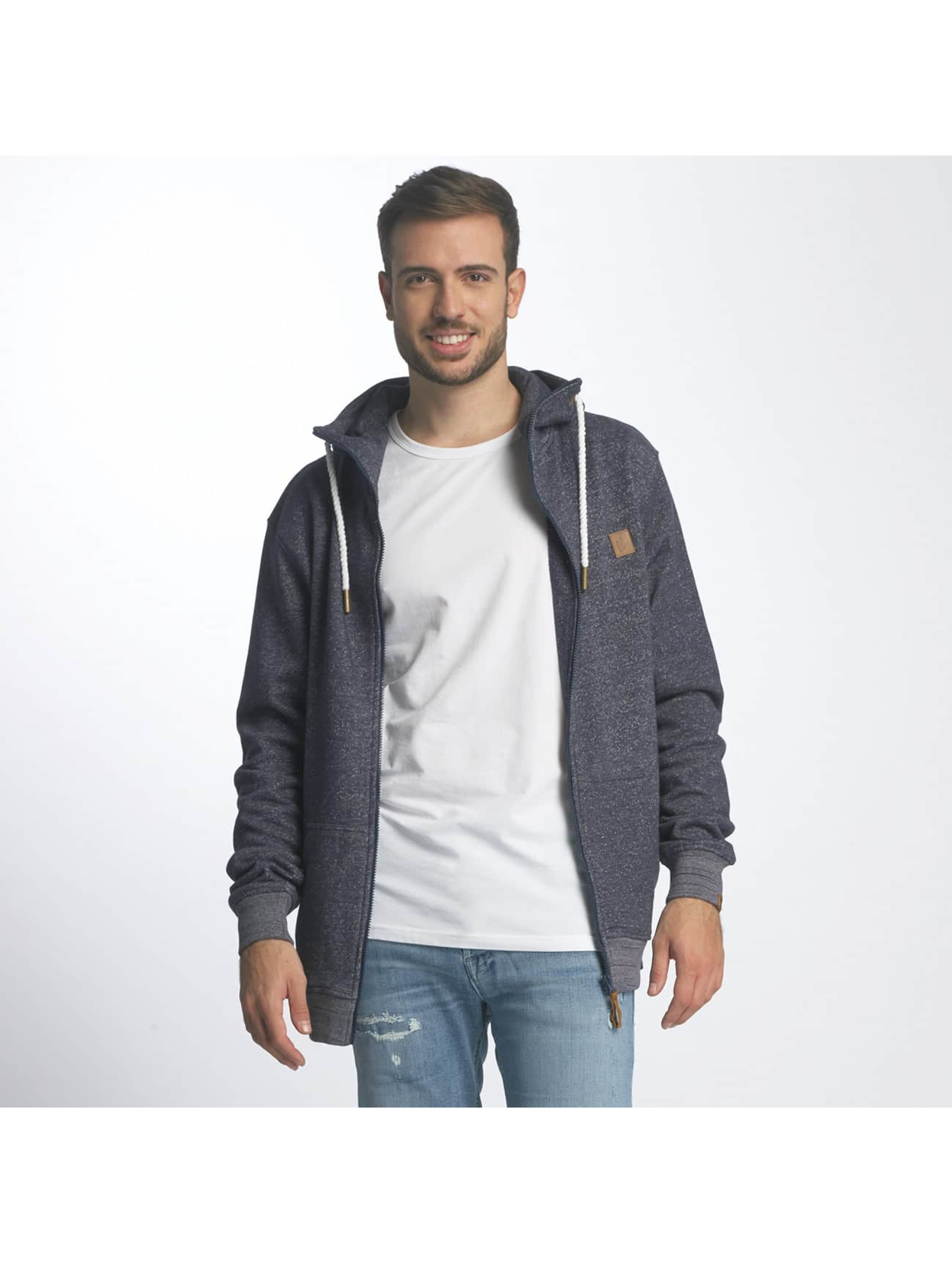 Platinum Anchor Männer Zip Hoodie Hookipa in blau