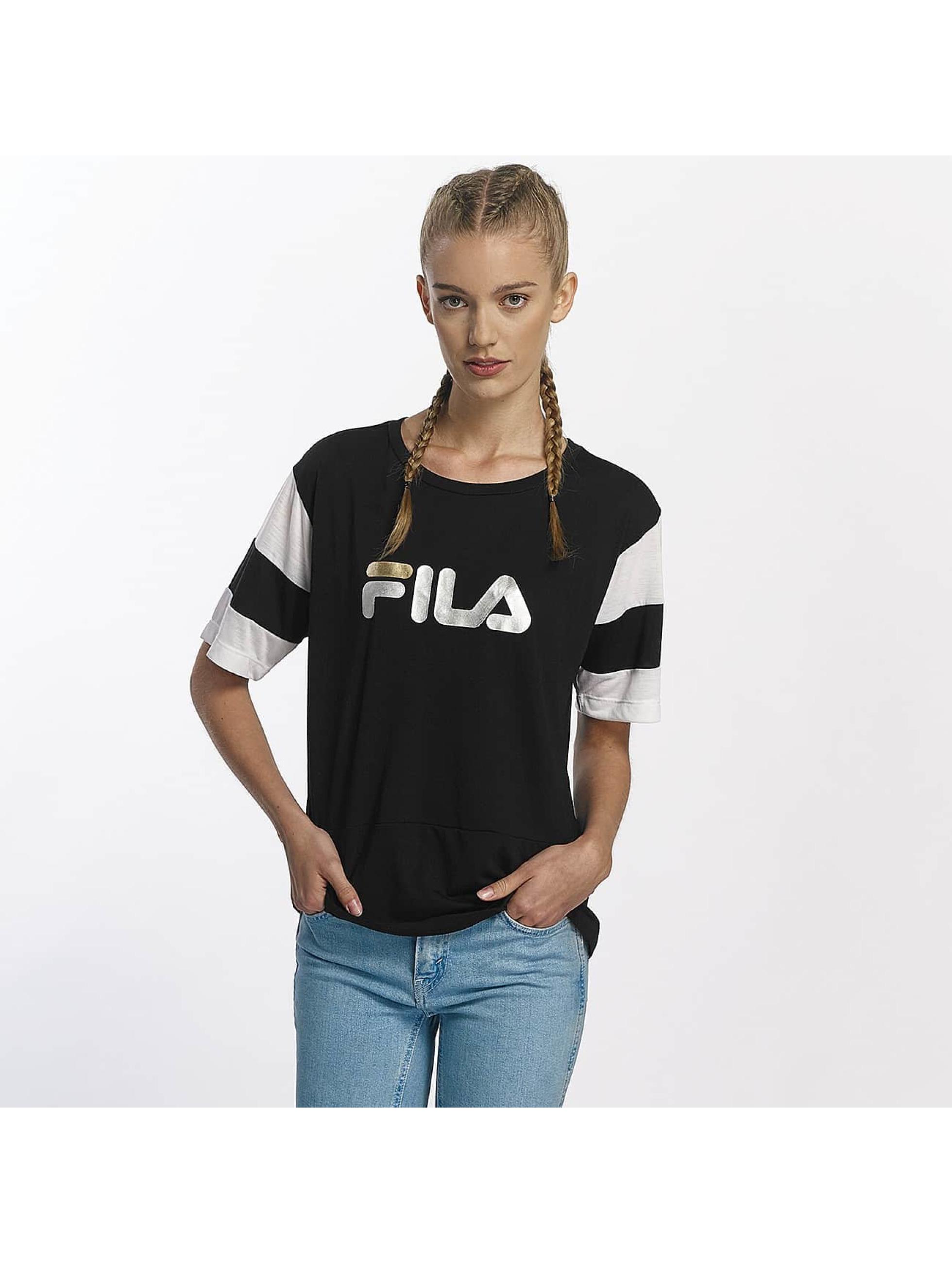 FILA Frauen T-Shirt Petite Isao Blocked in schwarz