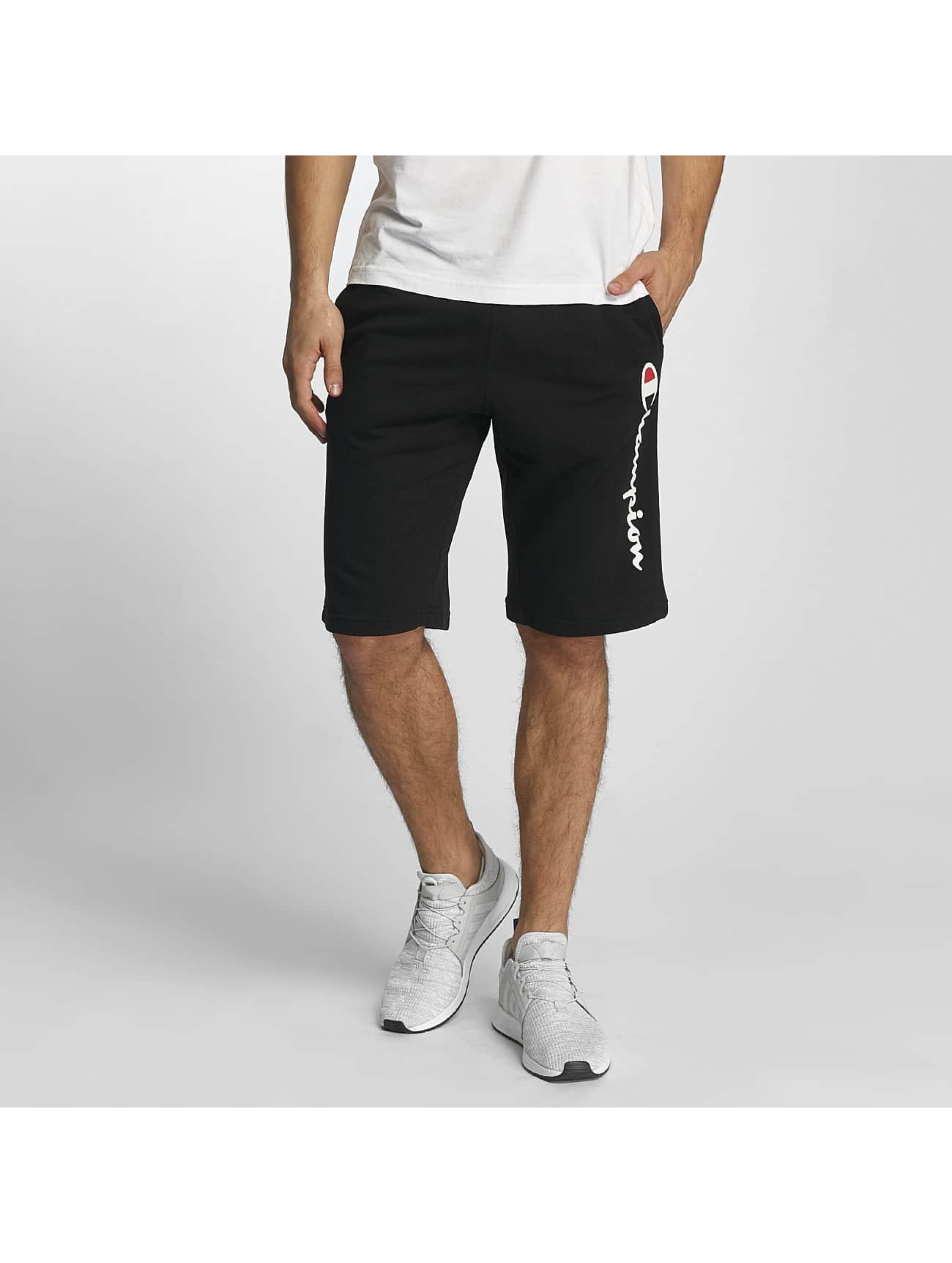 Champion Athletics Männer Shorts Long Bermuda in schwarz