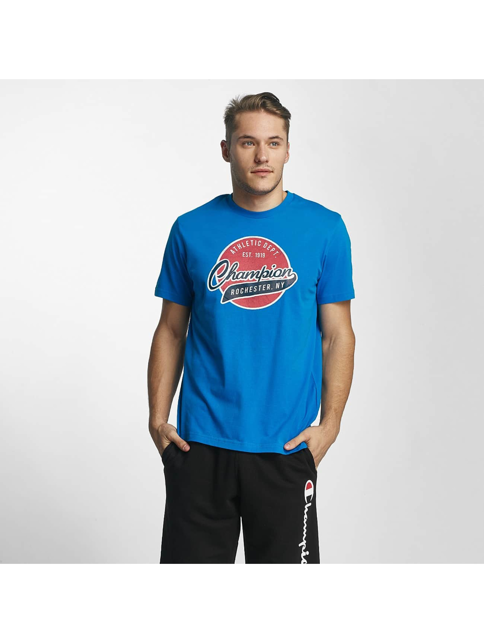 Champion Athletics Männer T-Shirt Logo in blau