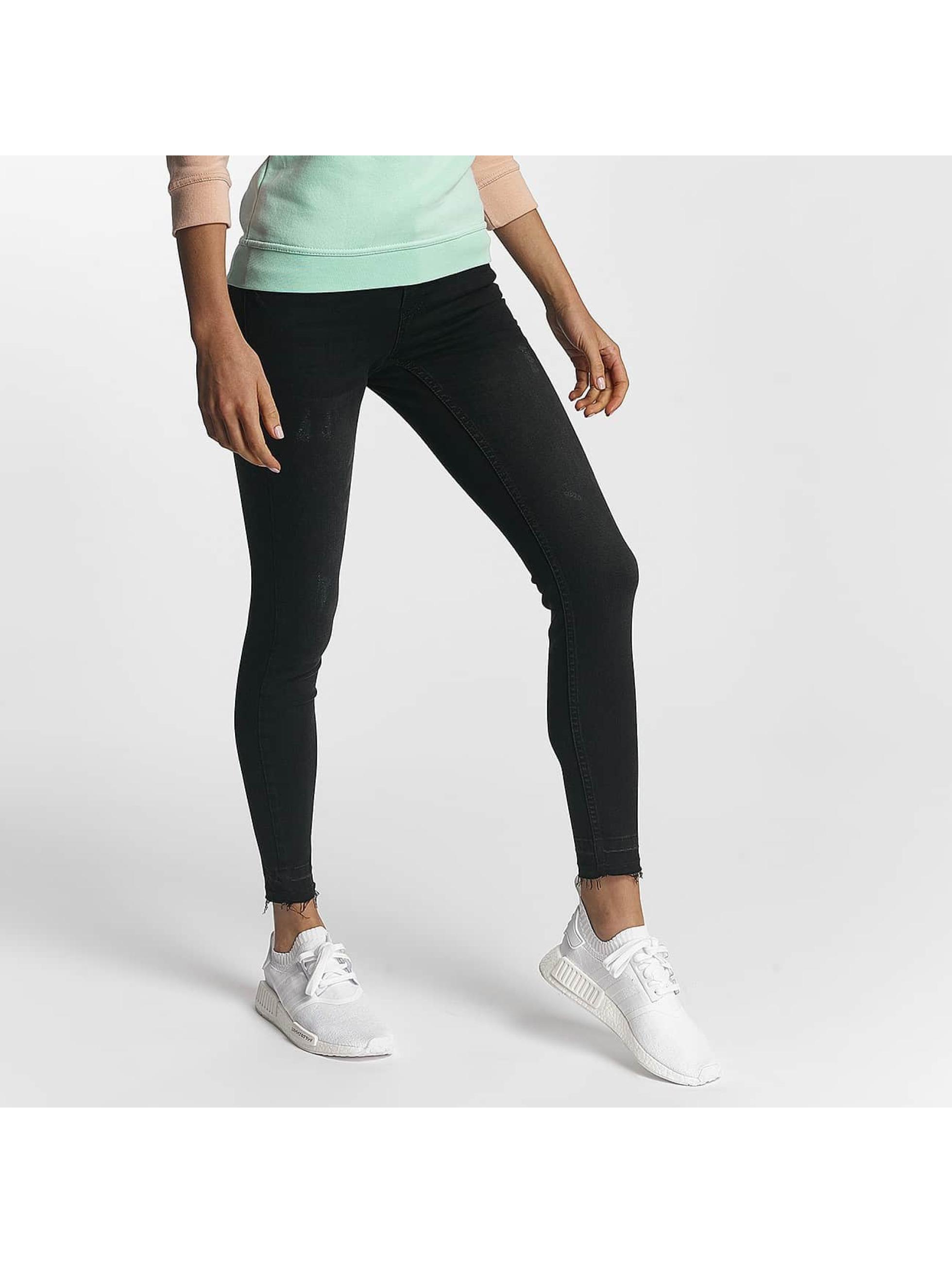 DEF Frauen Slim Fit Jeans Rodeo in schwarz