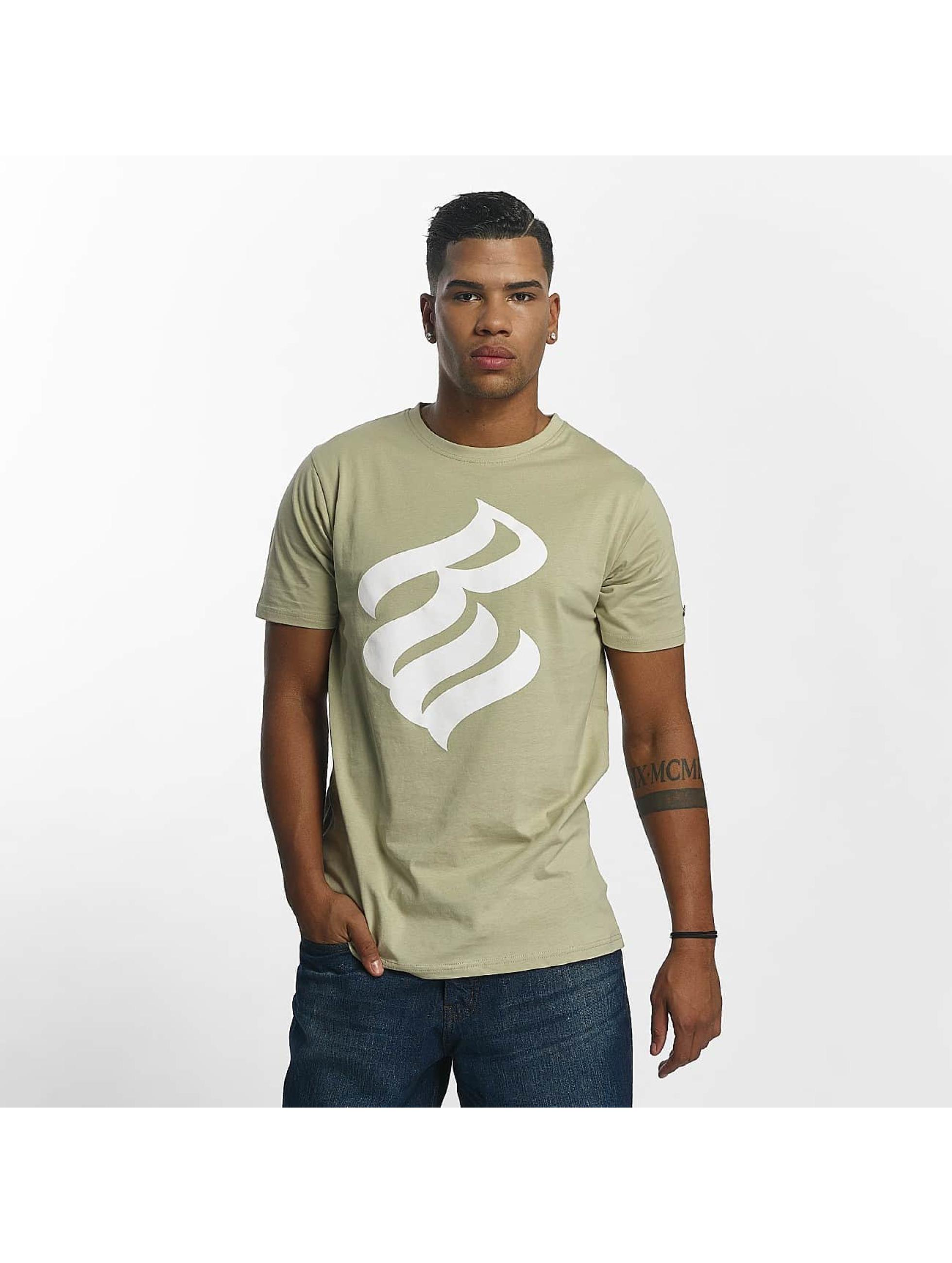 Rocawear / T-Shirt Logo in khaki S