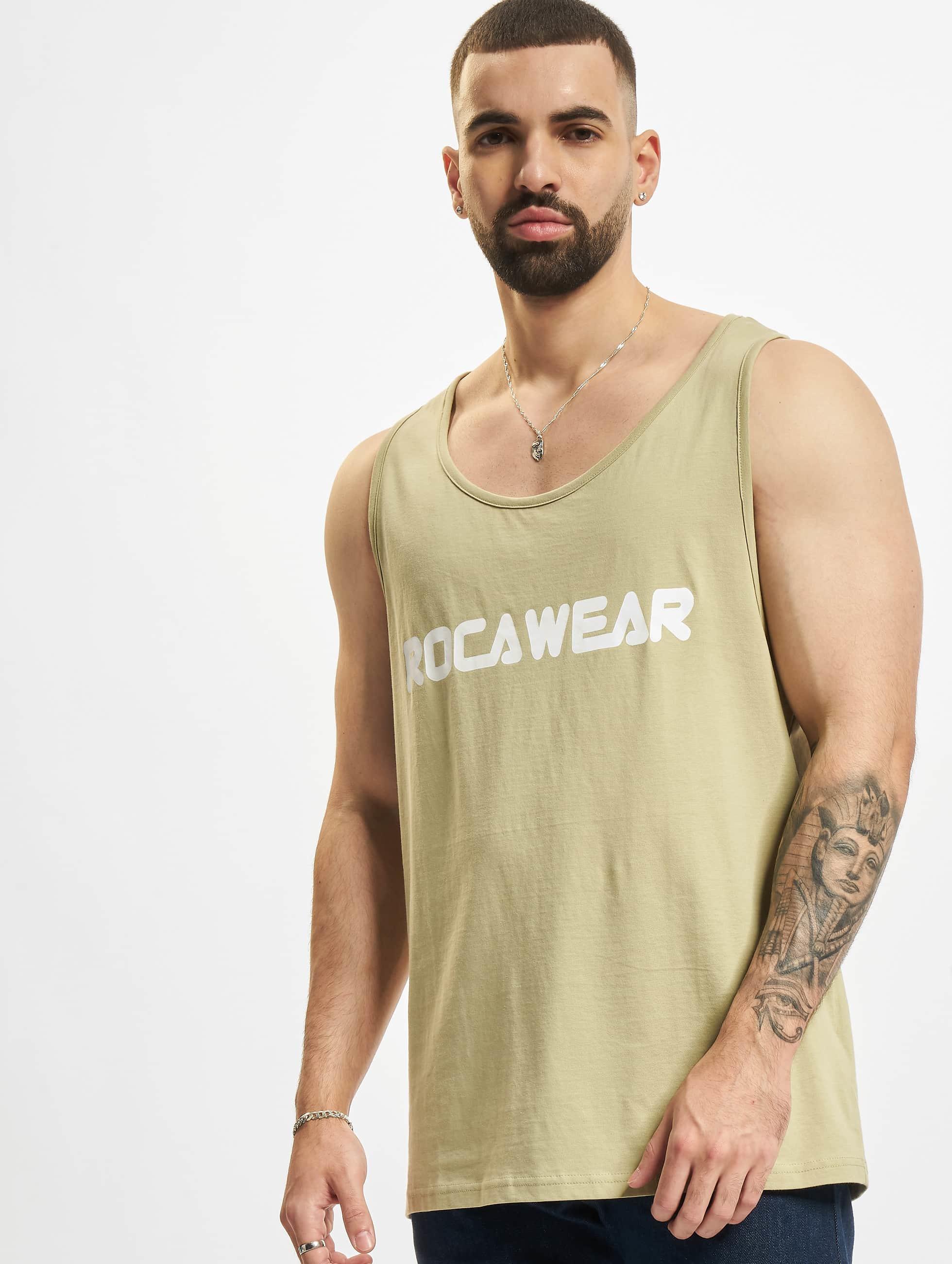 Rocawear / Tank Tops Color Block in khaki XL