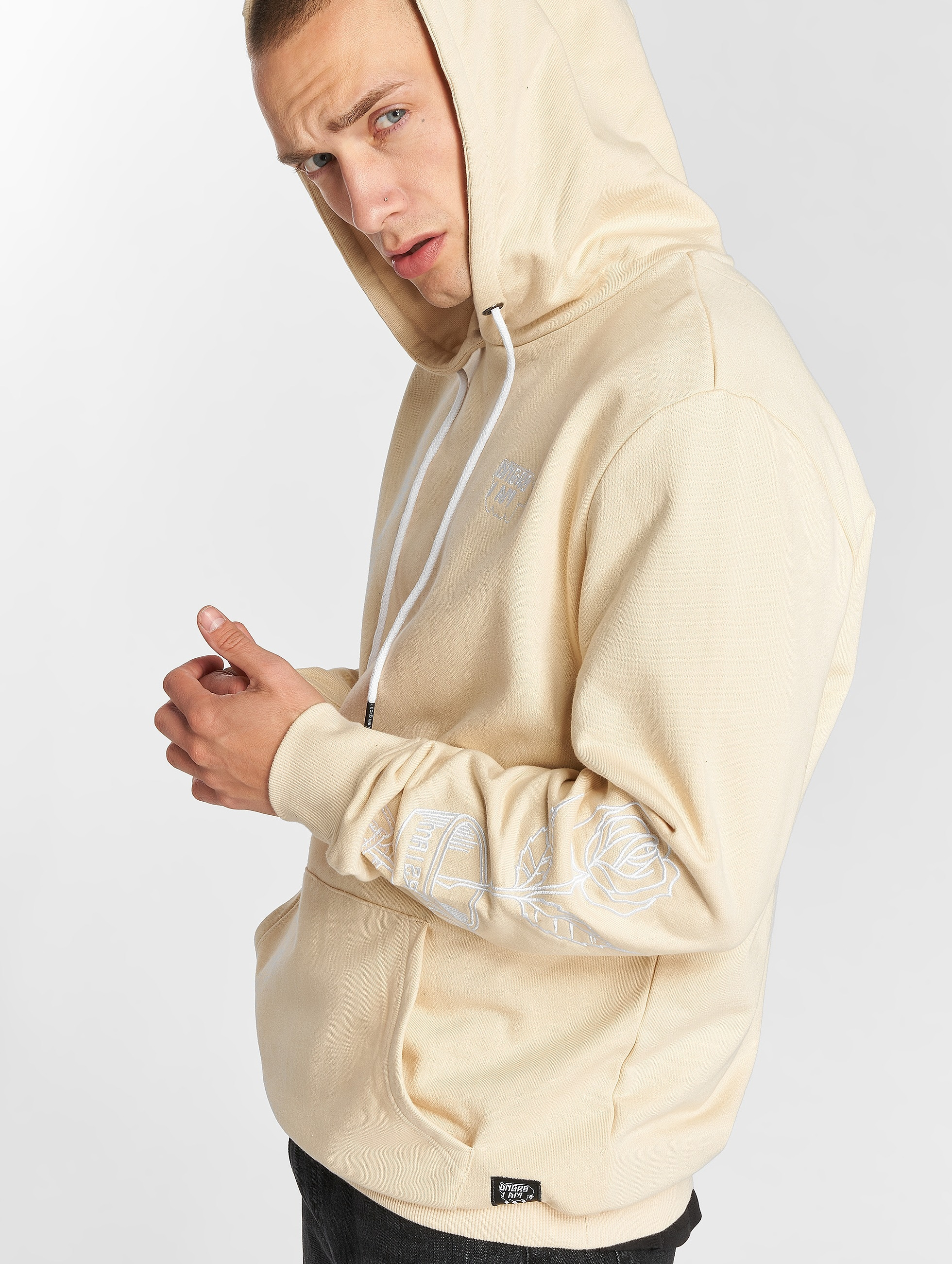 Dangerous I AM | Enenra beige Homme Sweat capuche