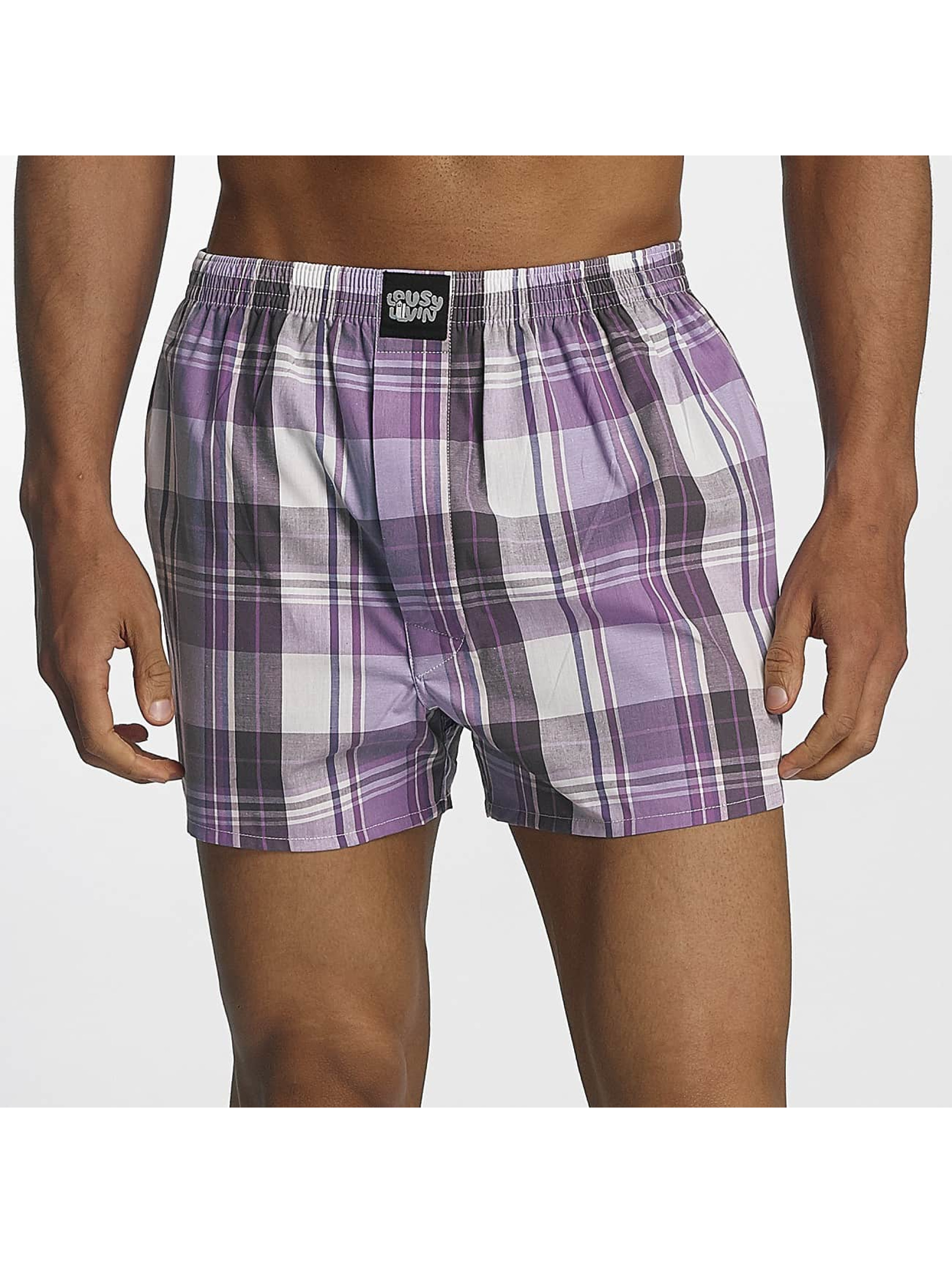 Lousy Livin Männer Boxershorts Lousy Check in violet
