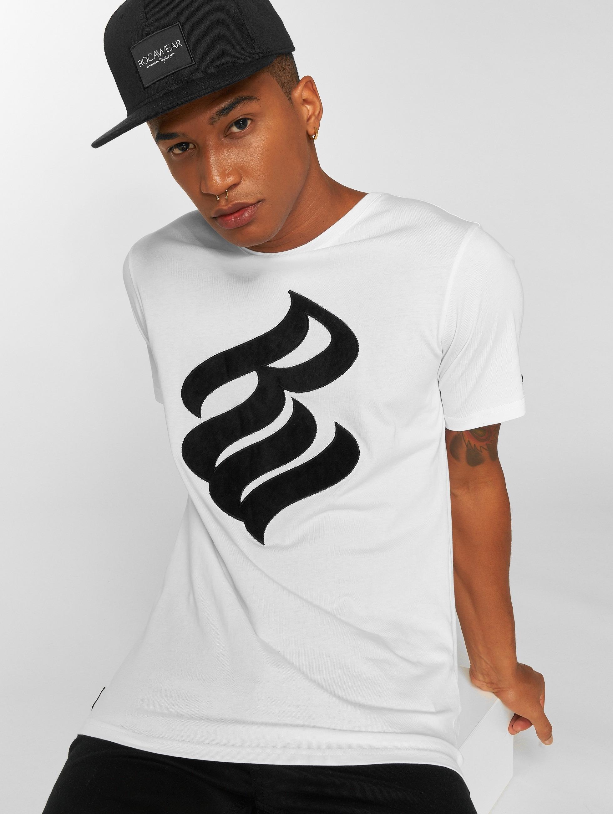 Rocawear / T-Shirt Velvet Logo in white XL