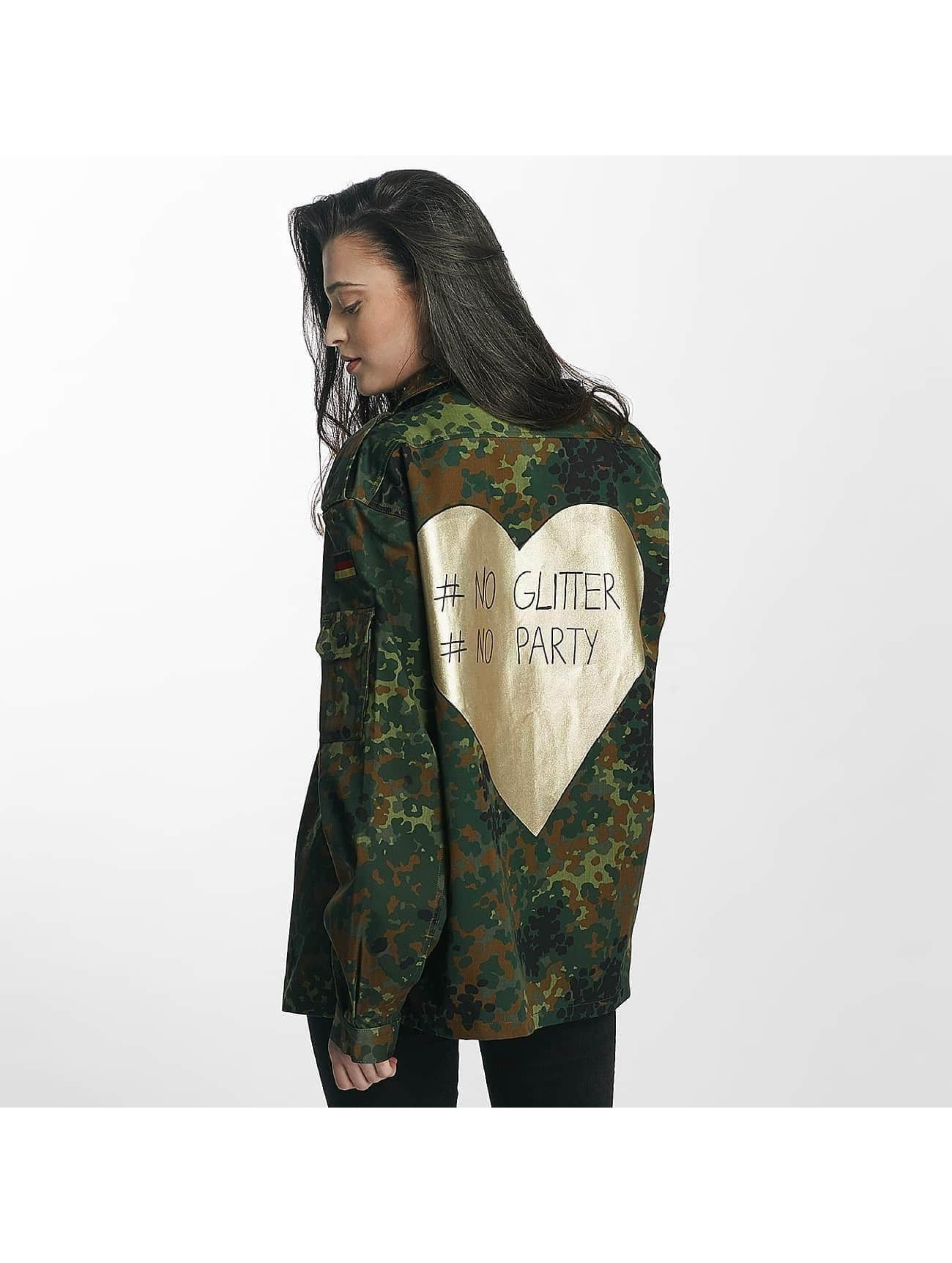Soniush Frauen Übergangsjacke No Glitter in camouflage