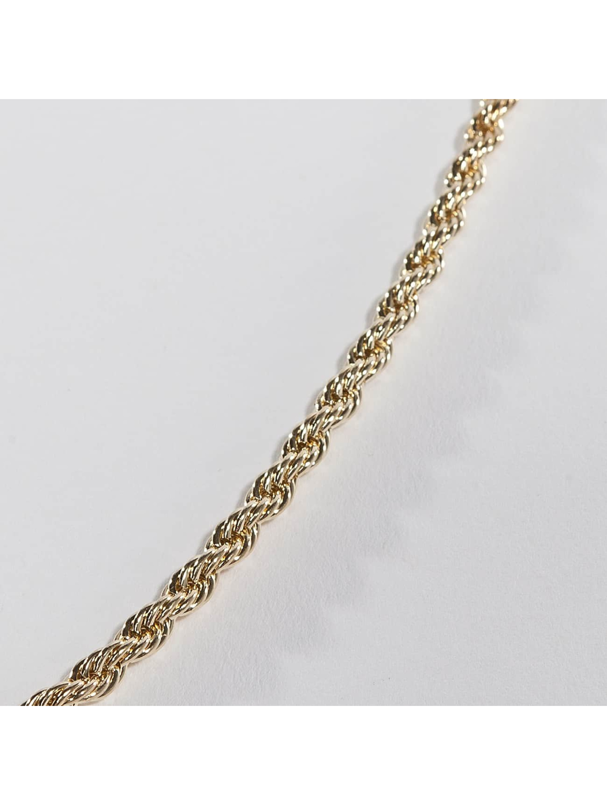 KING ICE Männer,Frauen Kette Gold_Plated 4mm Dookie Rope Chain in goldfarben